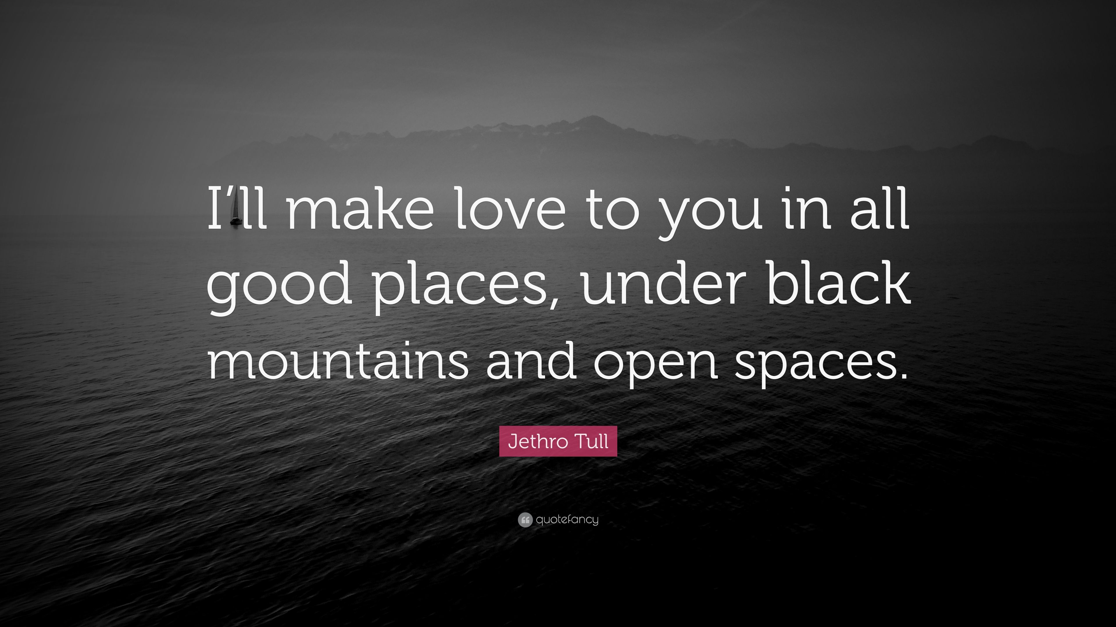 """I Want To Make Love To You Quotes Images Jethro Tull Quote """"I'll Make Love To You In All Good Places"""