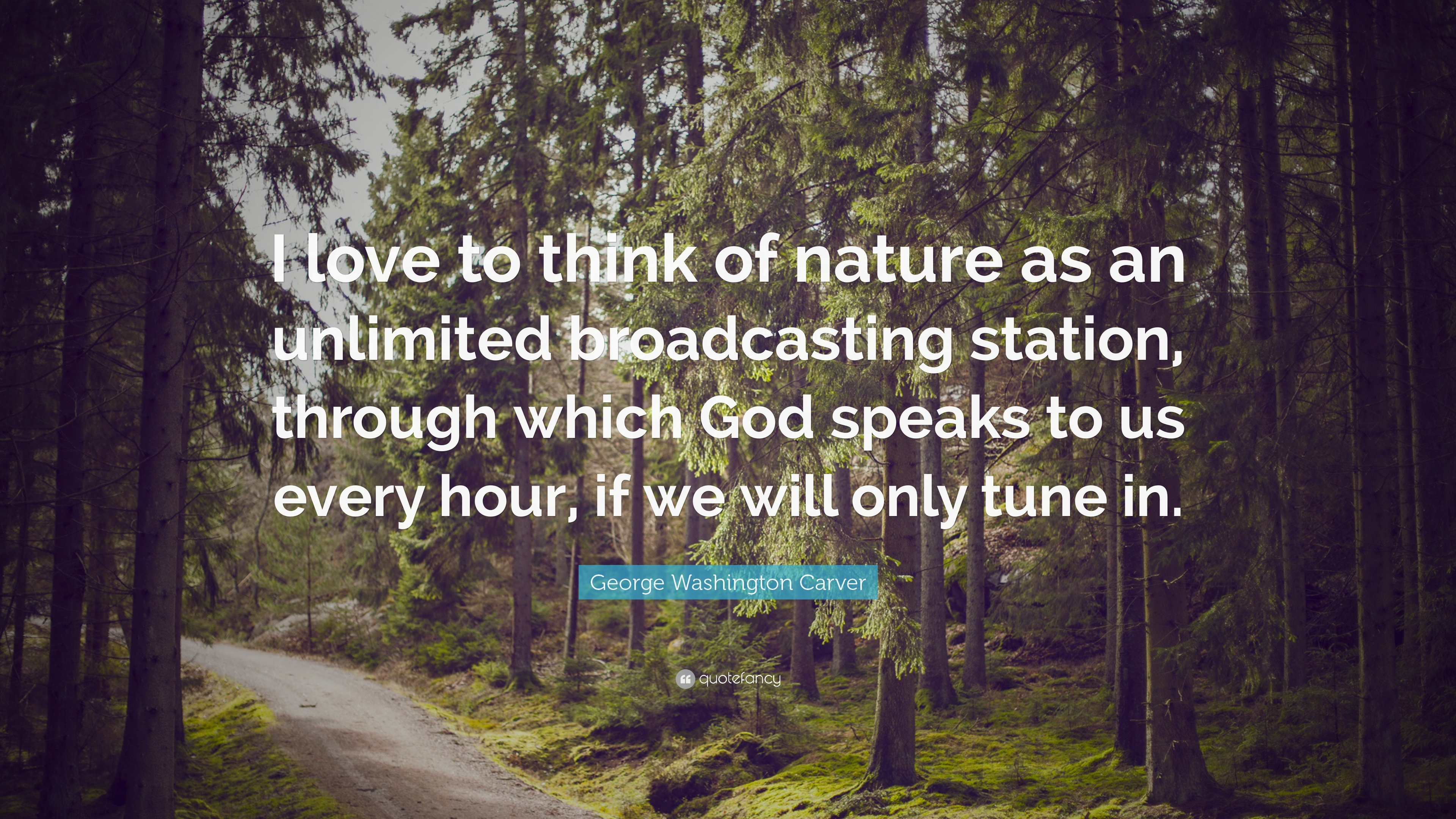 George Washington Carver Quote: ?I Love To Think Of Nature As An ...