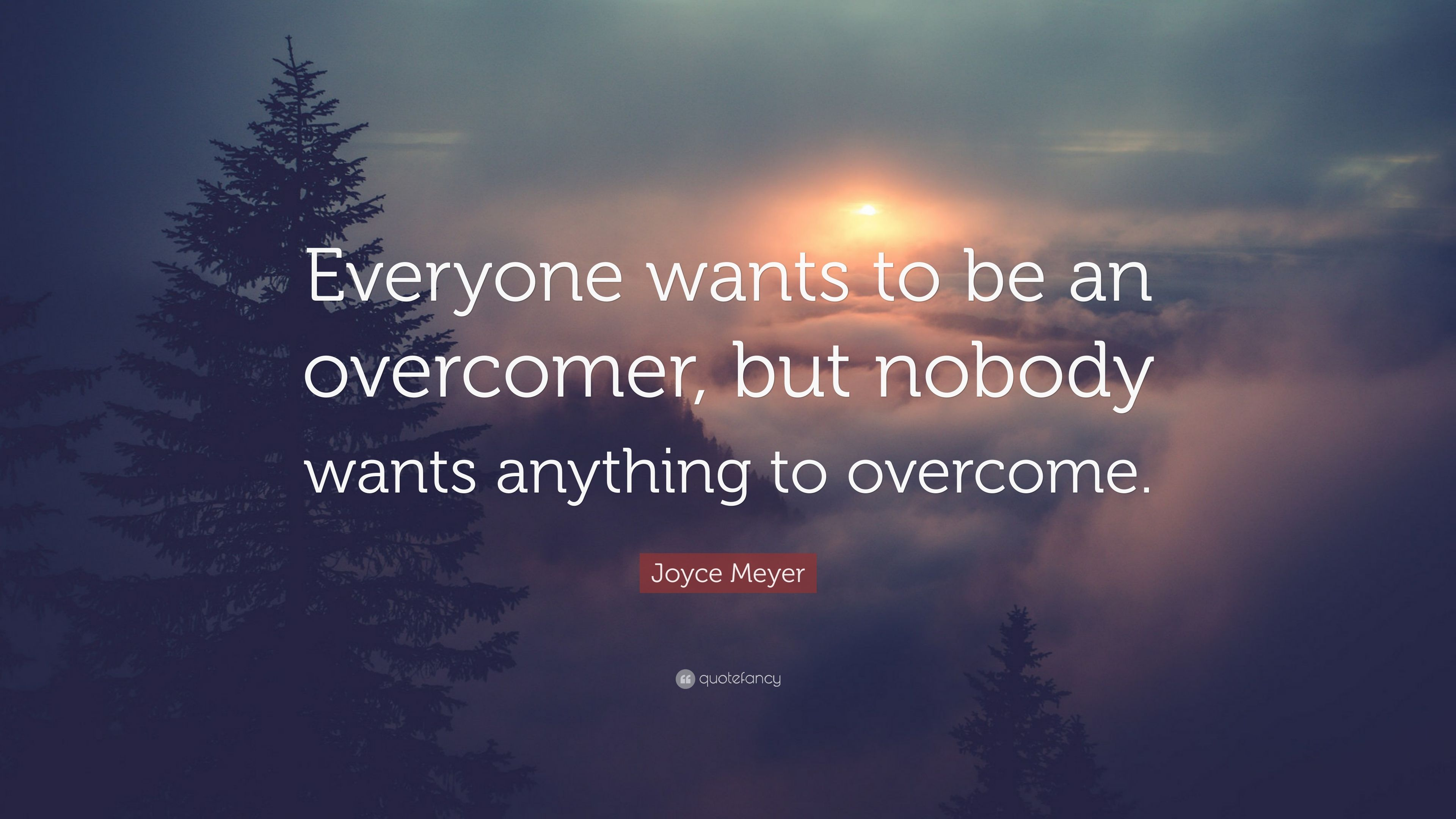 Superieur Joyce Meyer Quote: U201cEveryone Wants To Be An Overcomer, But Nobody Wants  Anything