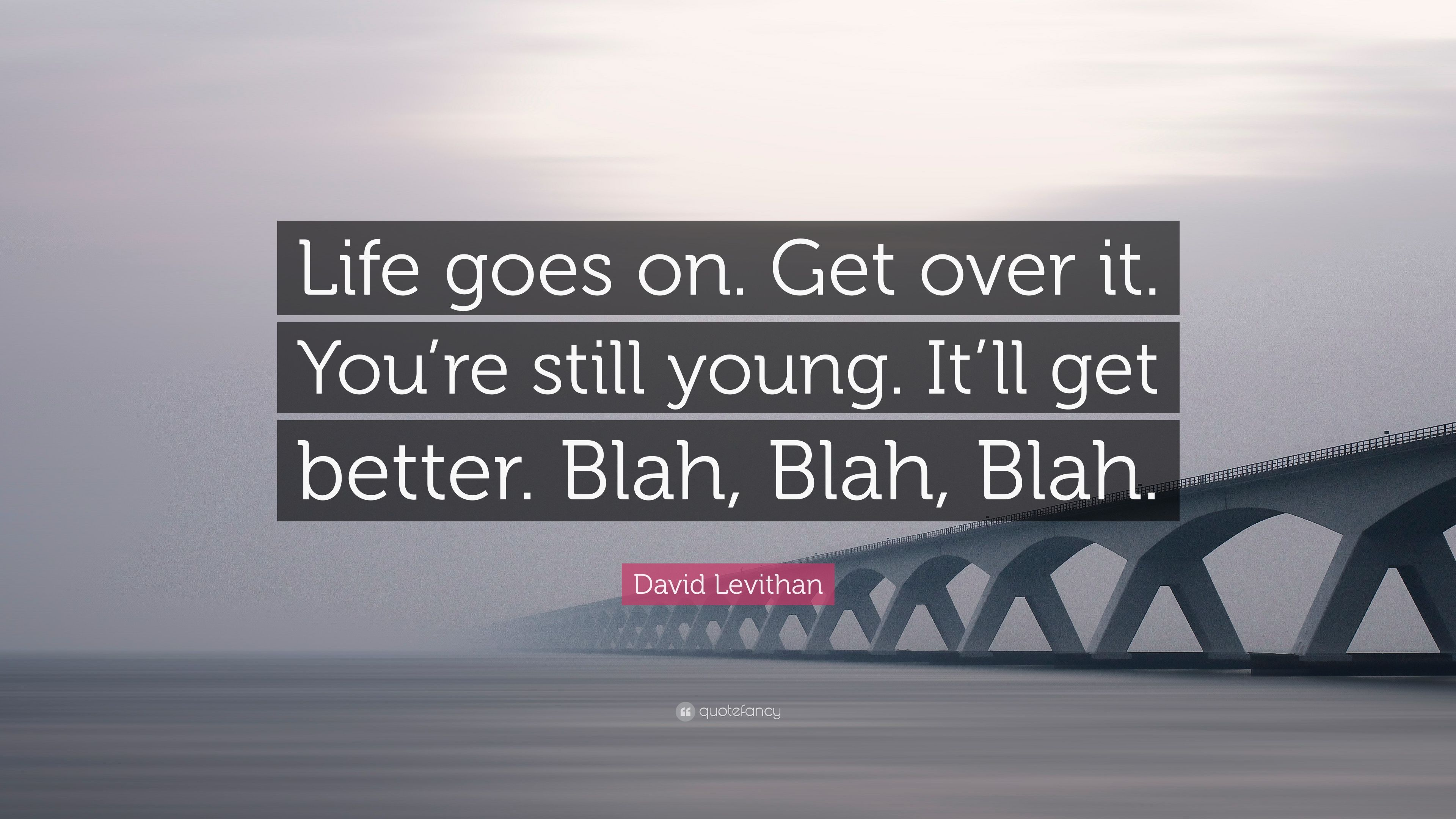 """Quotes About Life Goes On David Levithan Quote """"Life Goes Onget Over Ityou're Still"""