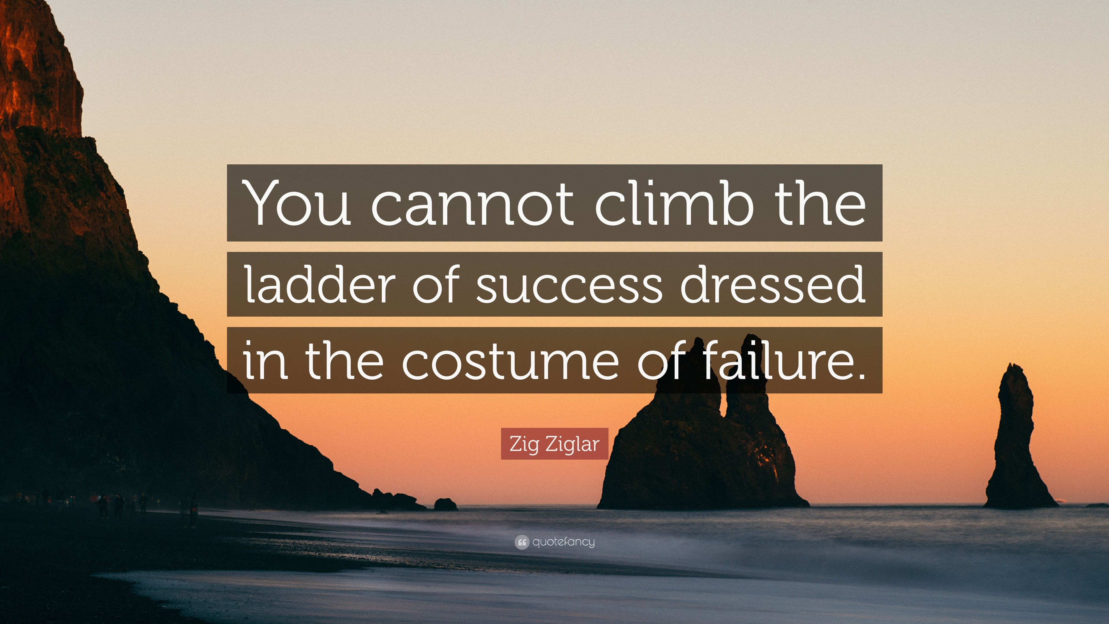 Zig Ziglar Quote You Cannot Climb The Ladder Of Success Dressed In Costume