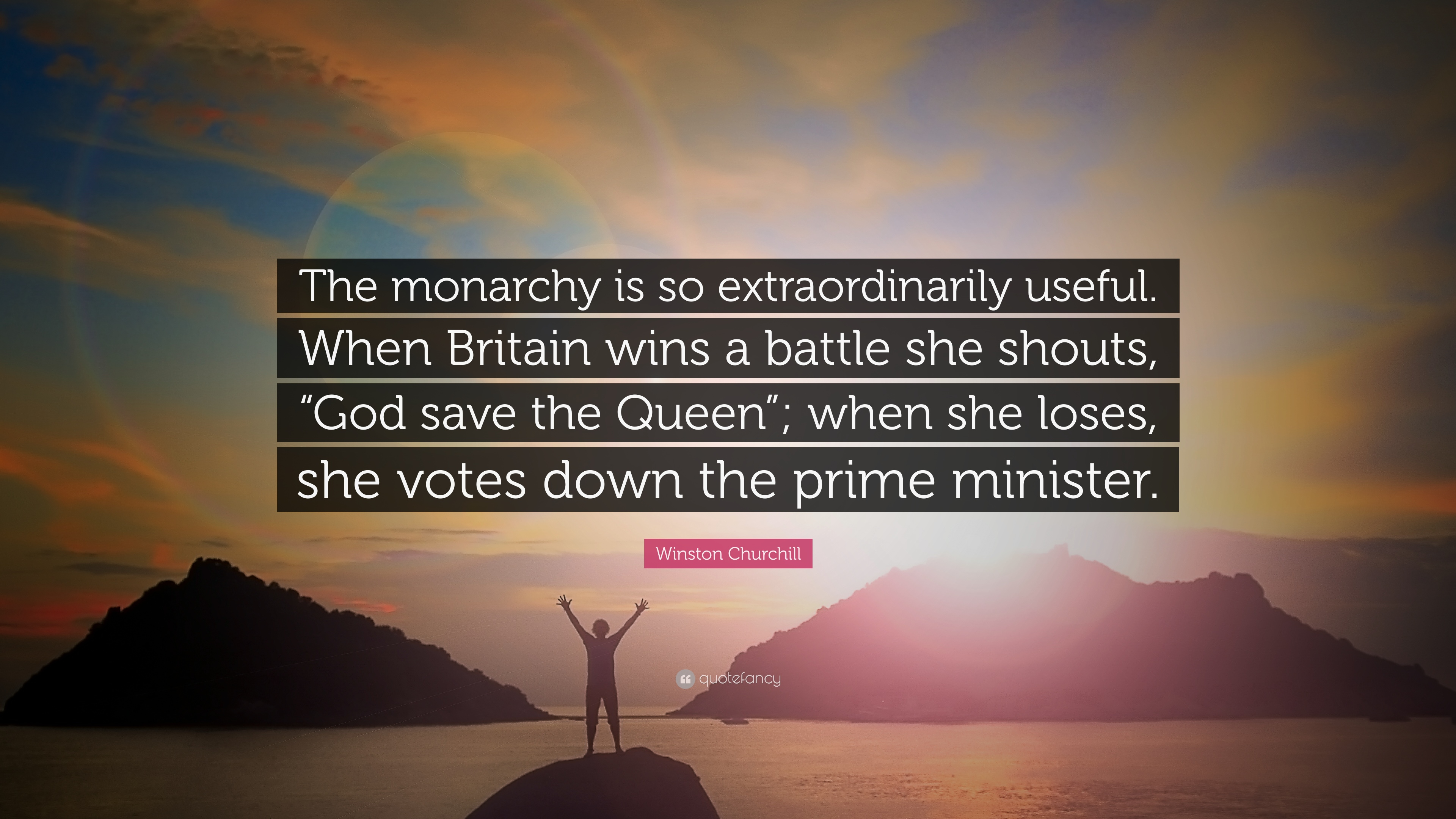 Winston Churchill Quote The Monarchy Is So Extraordinarily Useful