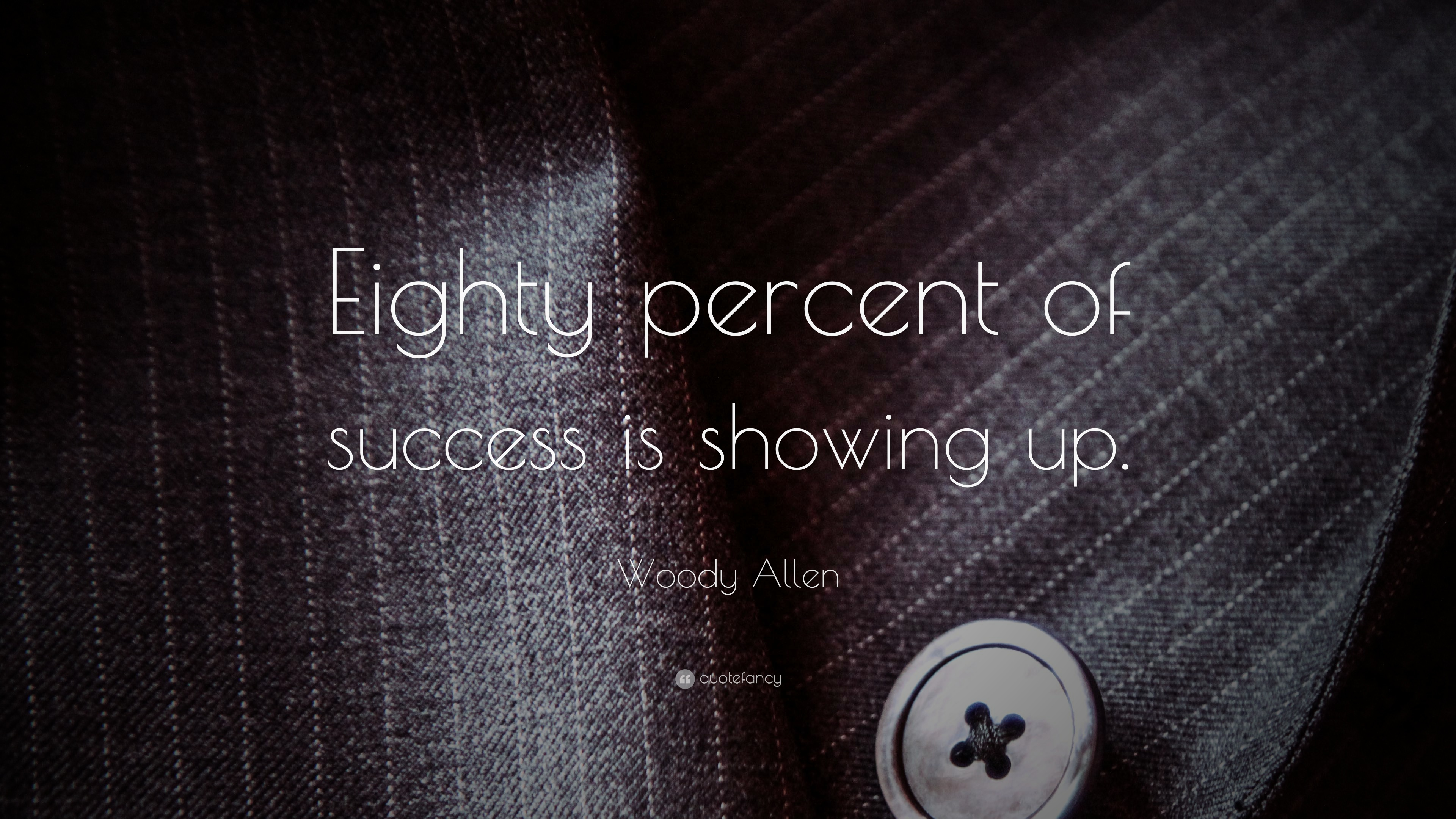 Woody Allen Quote Eighty Percent Of Success Is Showing Up 23