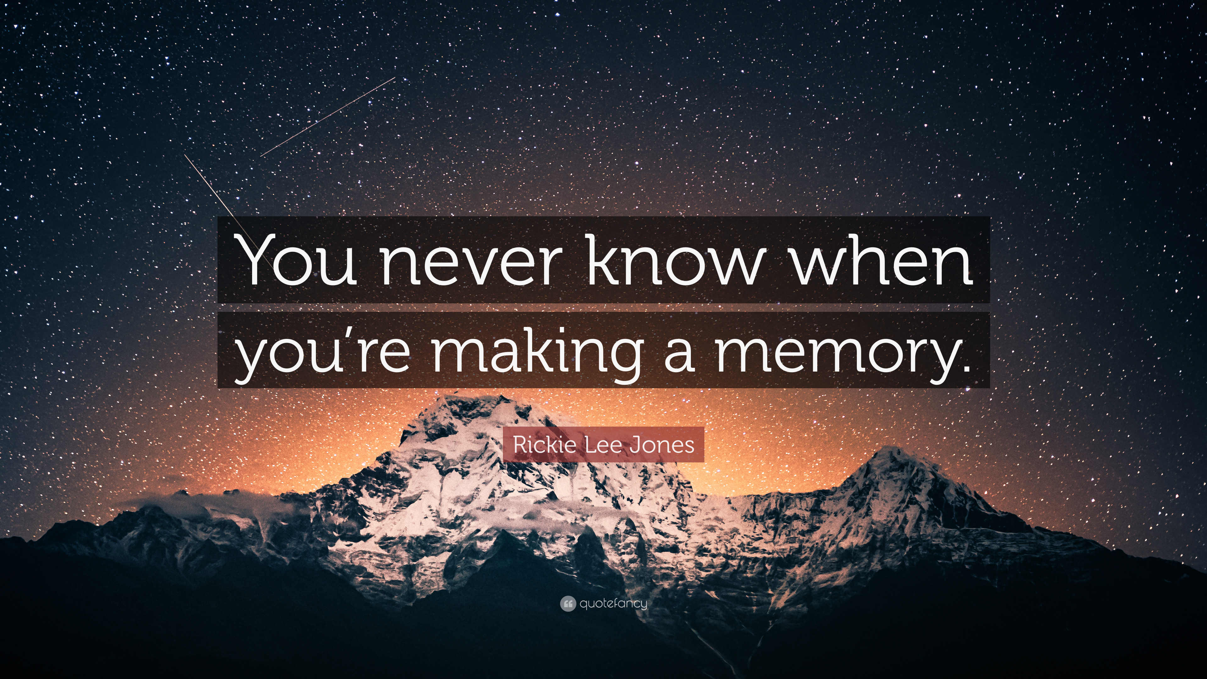 Rickie Lee Jones Quote You Never Know When You Re Making A