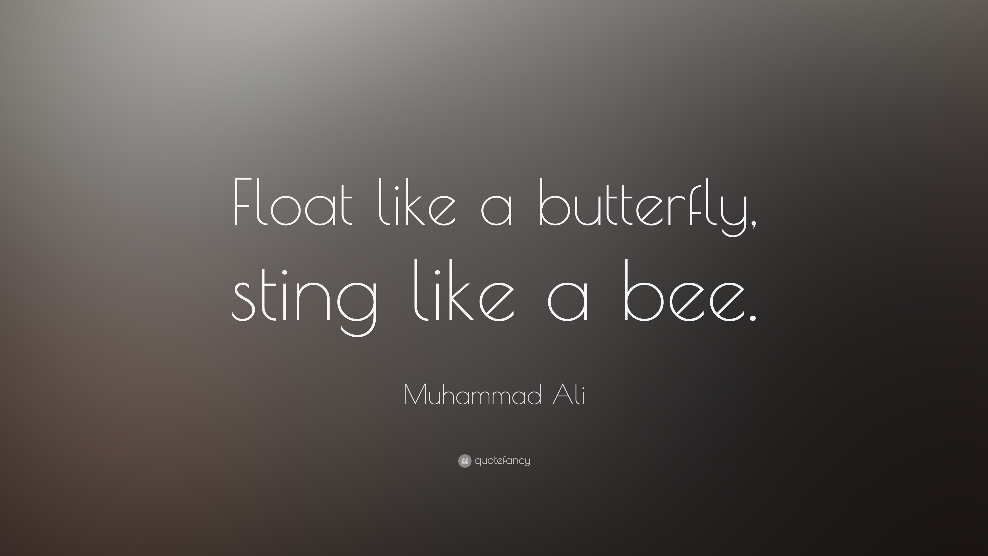 Muhammad Ali Quote Float Like A Butterfly Sting Like A Bee 20