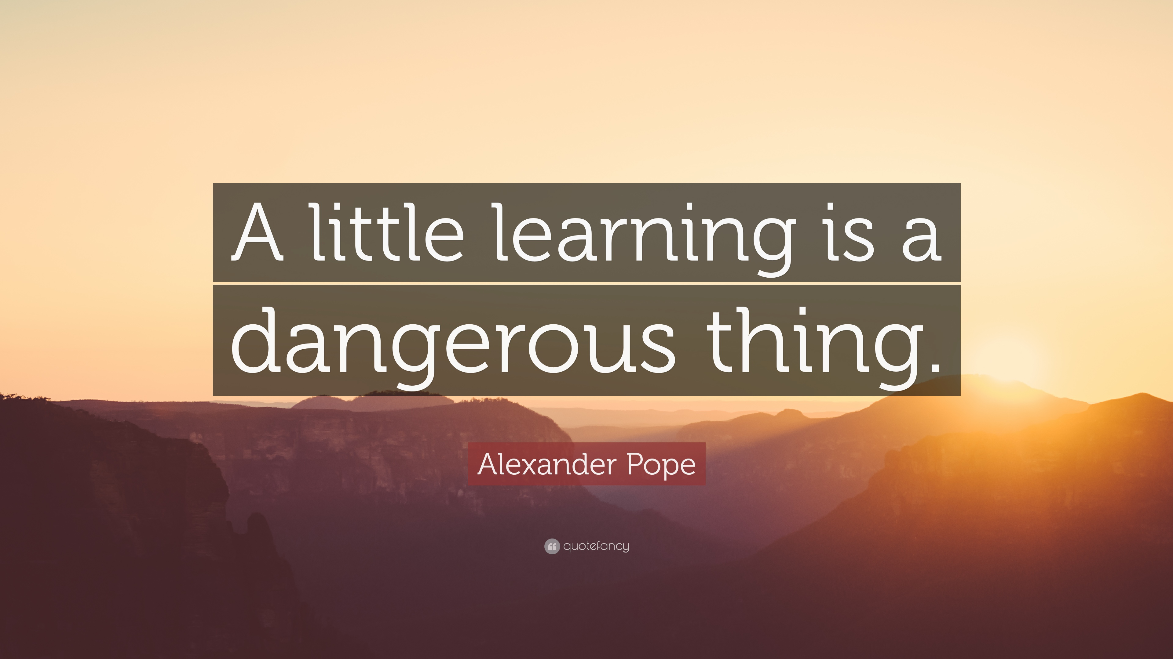 What Does A Little Knowledge is a Dangerous Thing Mean?