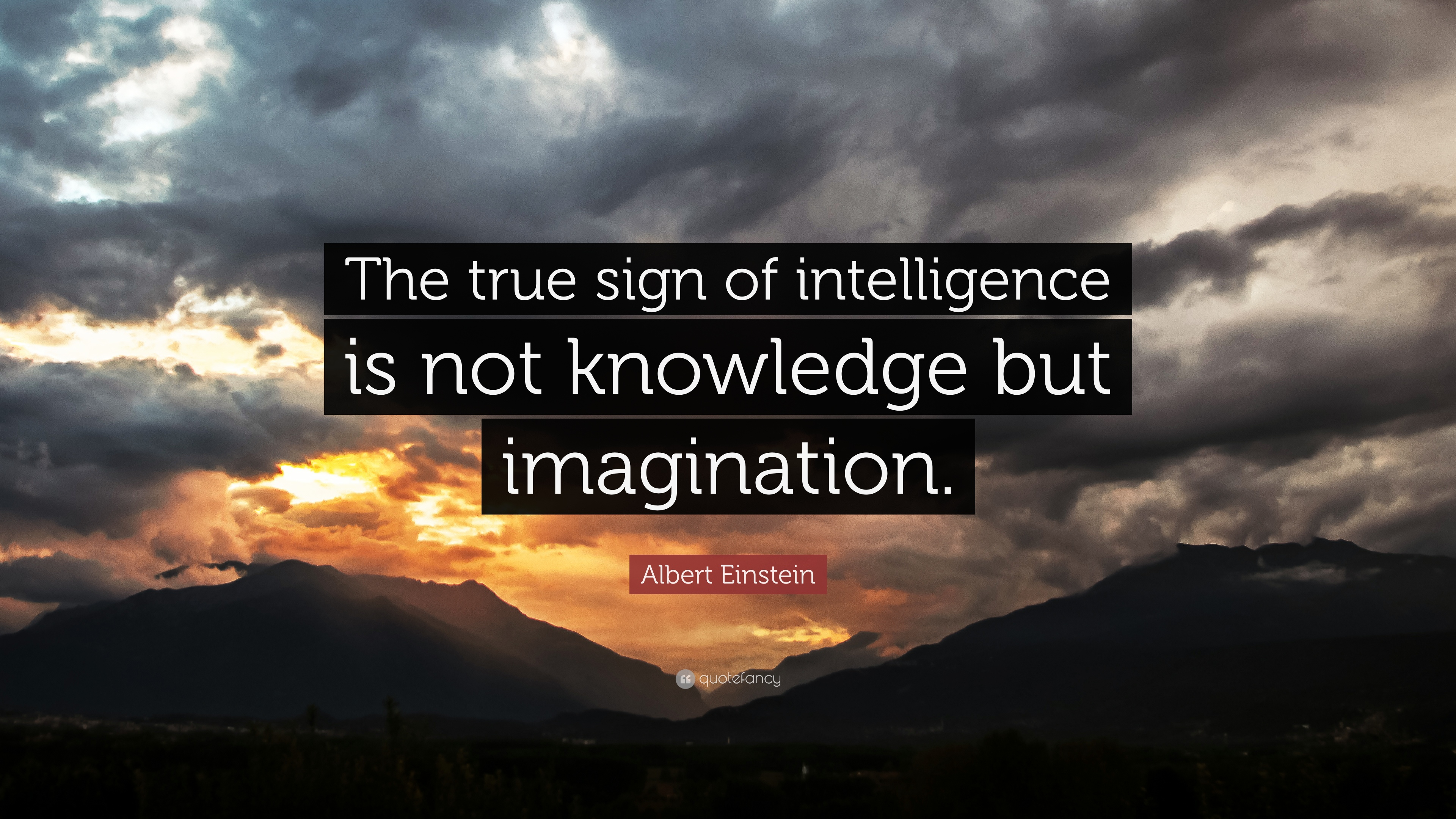 "Albert Einstein Quote: ""The True Sign Of Intelligence Is"