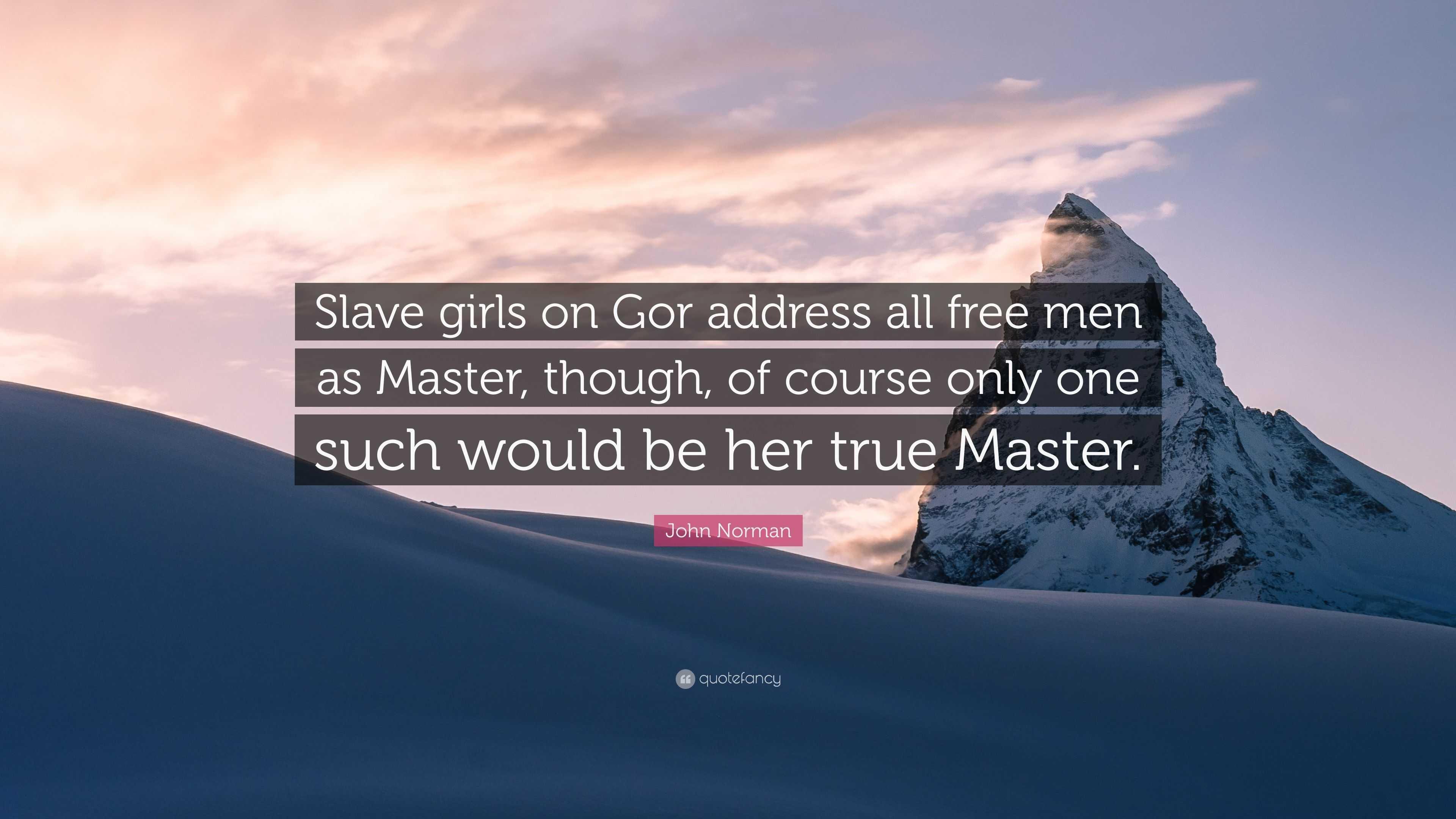 Words... super, Gor slave girls