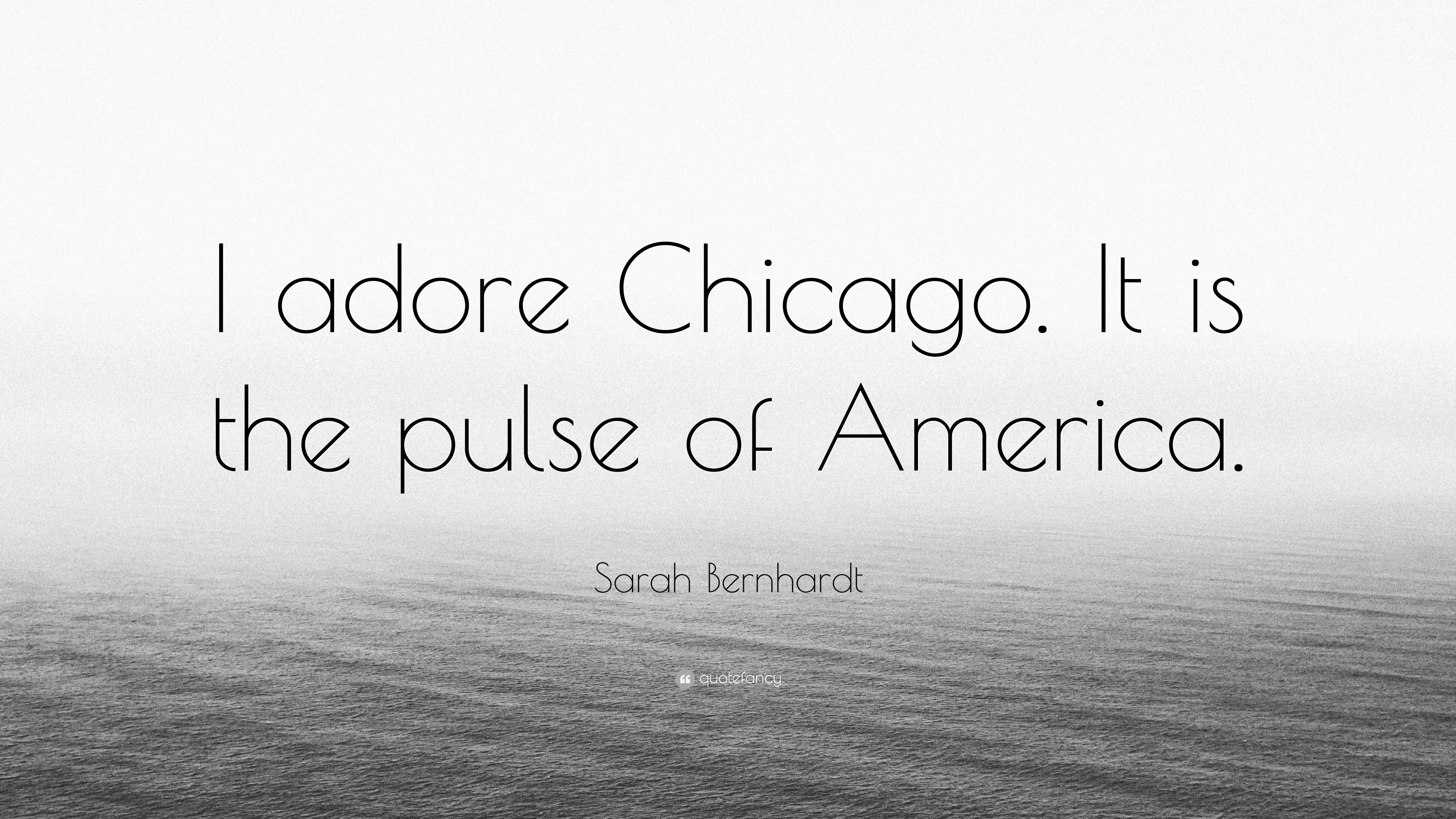 bernhardt logo. Sarah Bernhardt Quote: \u201cI Adore Chicago. It Is The Pulse Of America. Logo