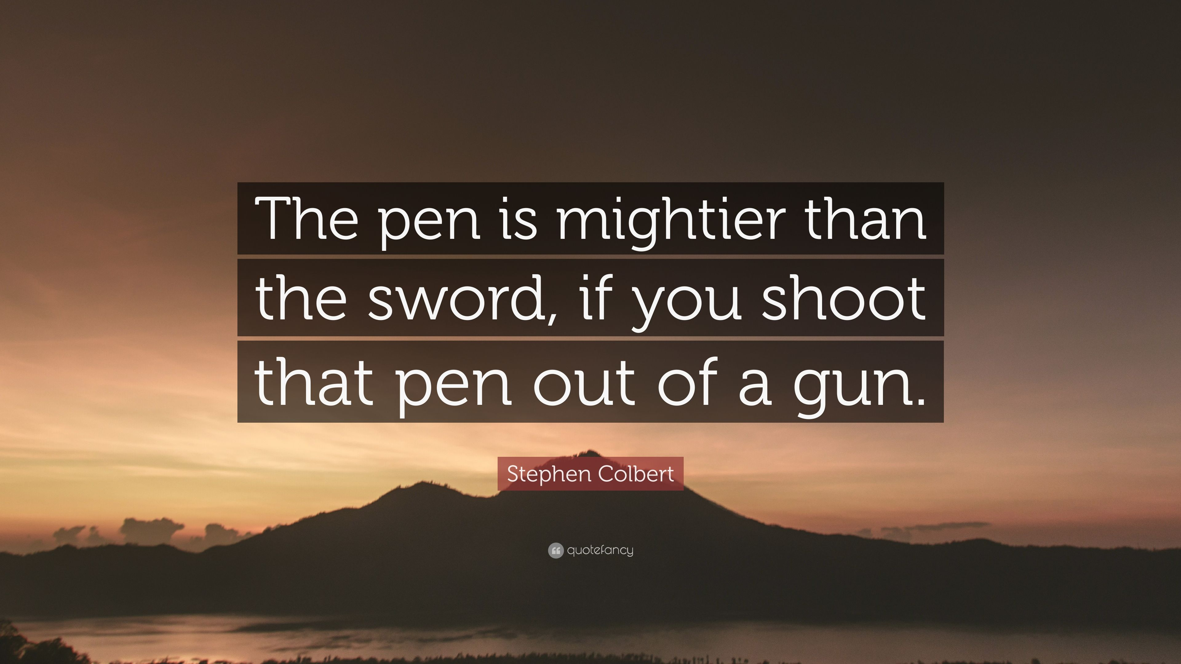 pens is mighter than the sword You've got to live by the pen 'cause it's mightier than the sword every man is me, every man is you i can't tell you what you've got to do you've got to live by the pen, it's mightier than the sword.