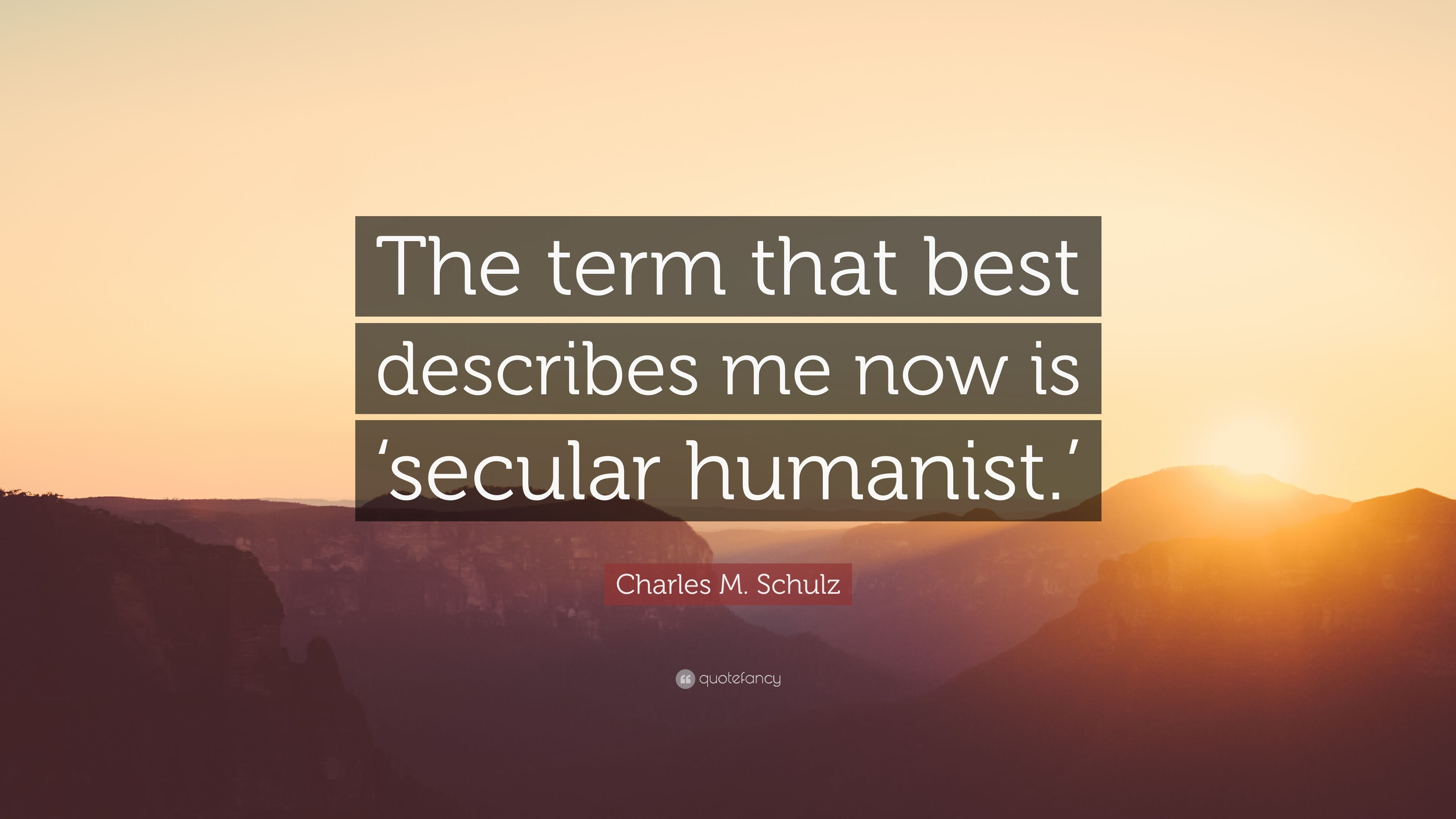 Charles M Schulz Quote The Term That Best Describes Me Now Is