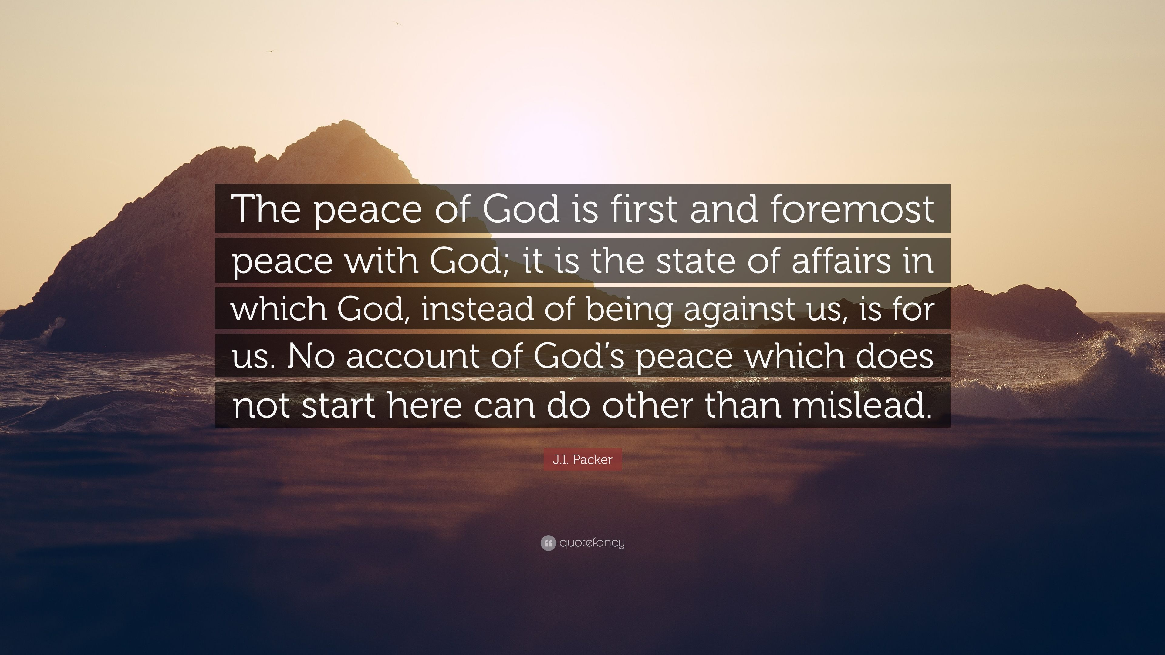 Being at peace with god