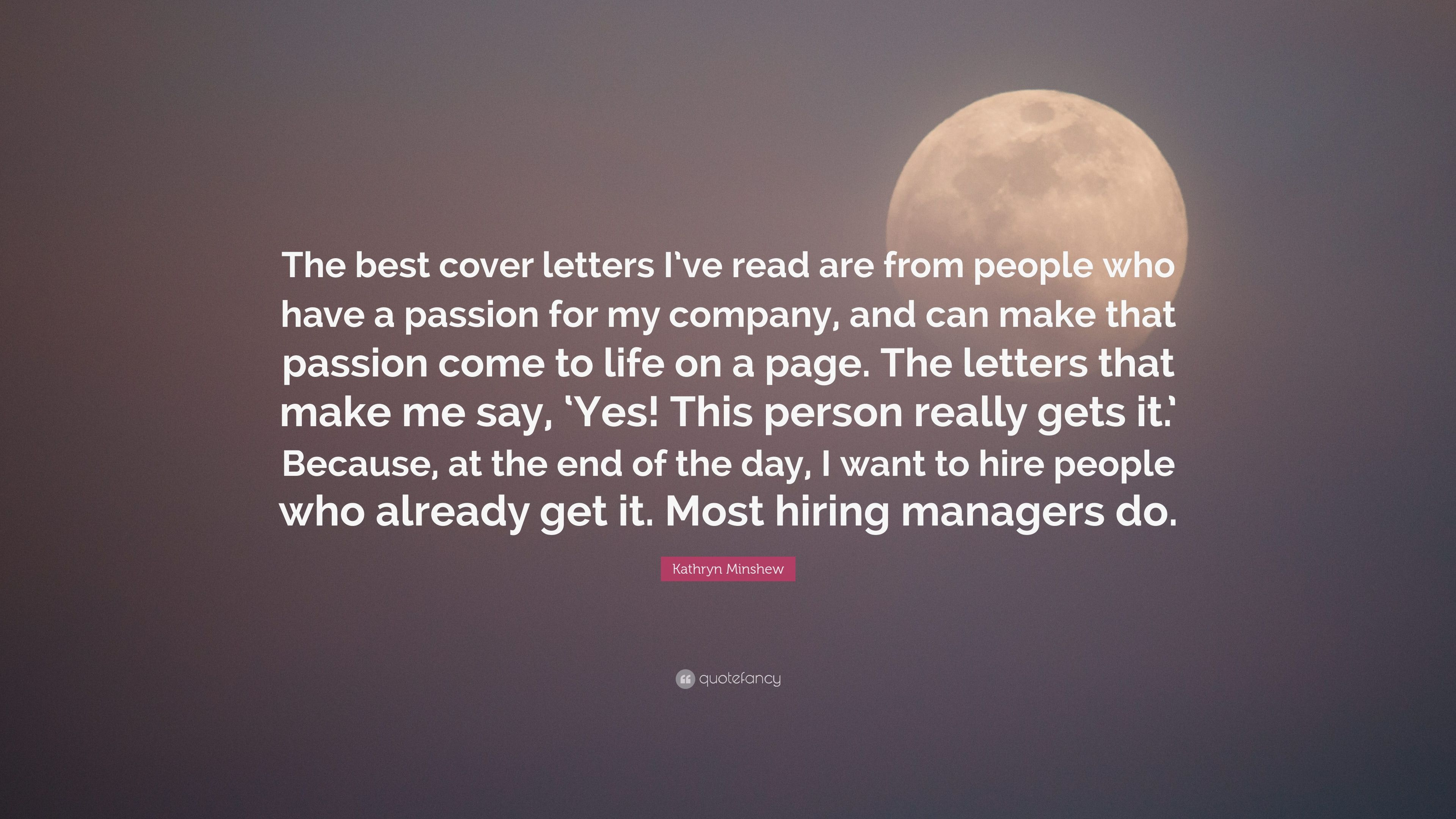 do do customers read cover letters