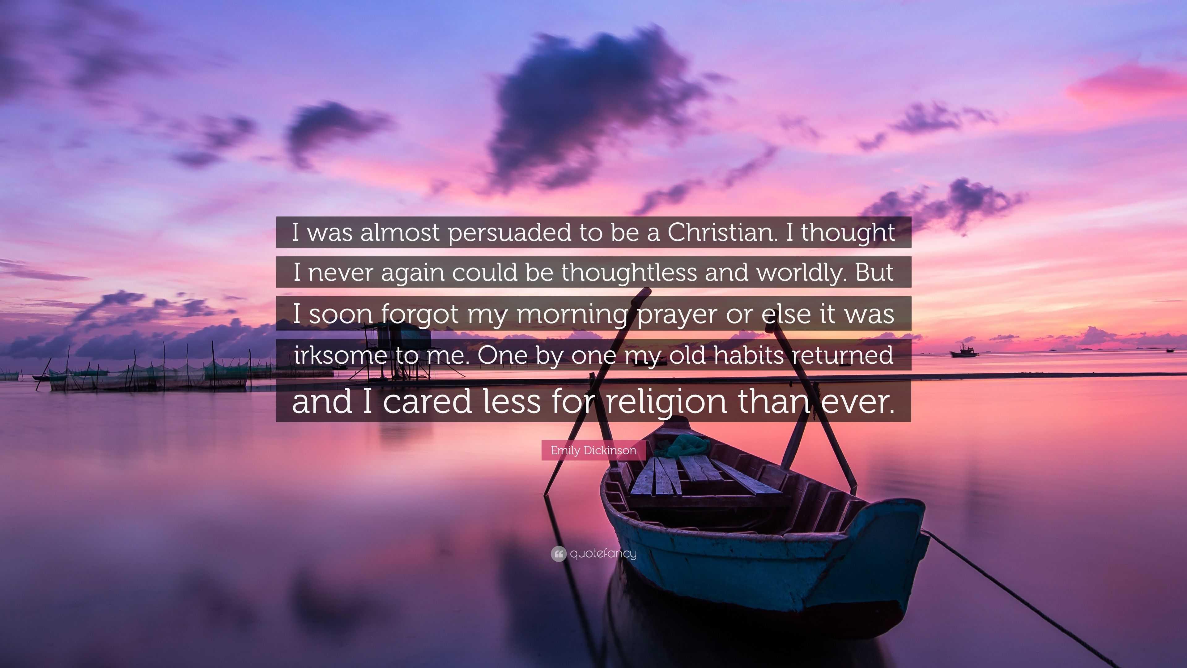 was emily dickinson a christian