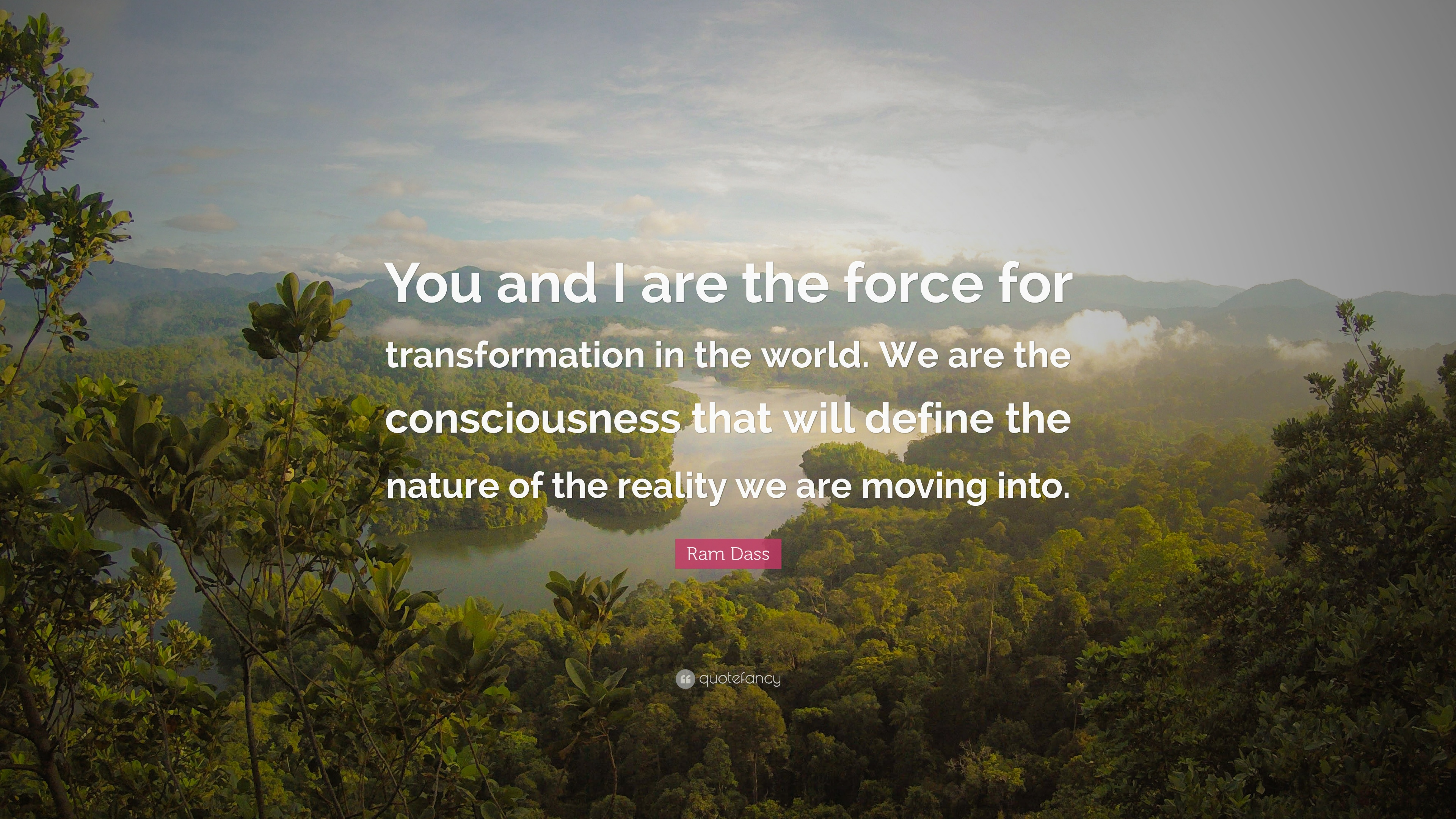 "Ram Dass Quotes Ram Dass Quote ""You And I Are The Force For Transformation In The ."