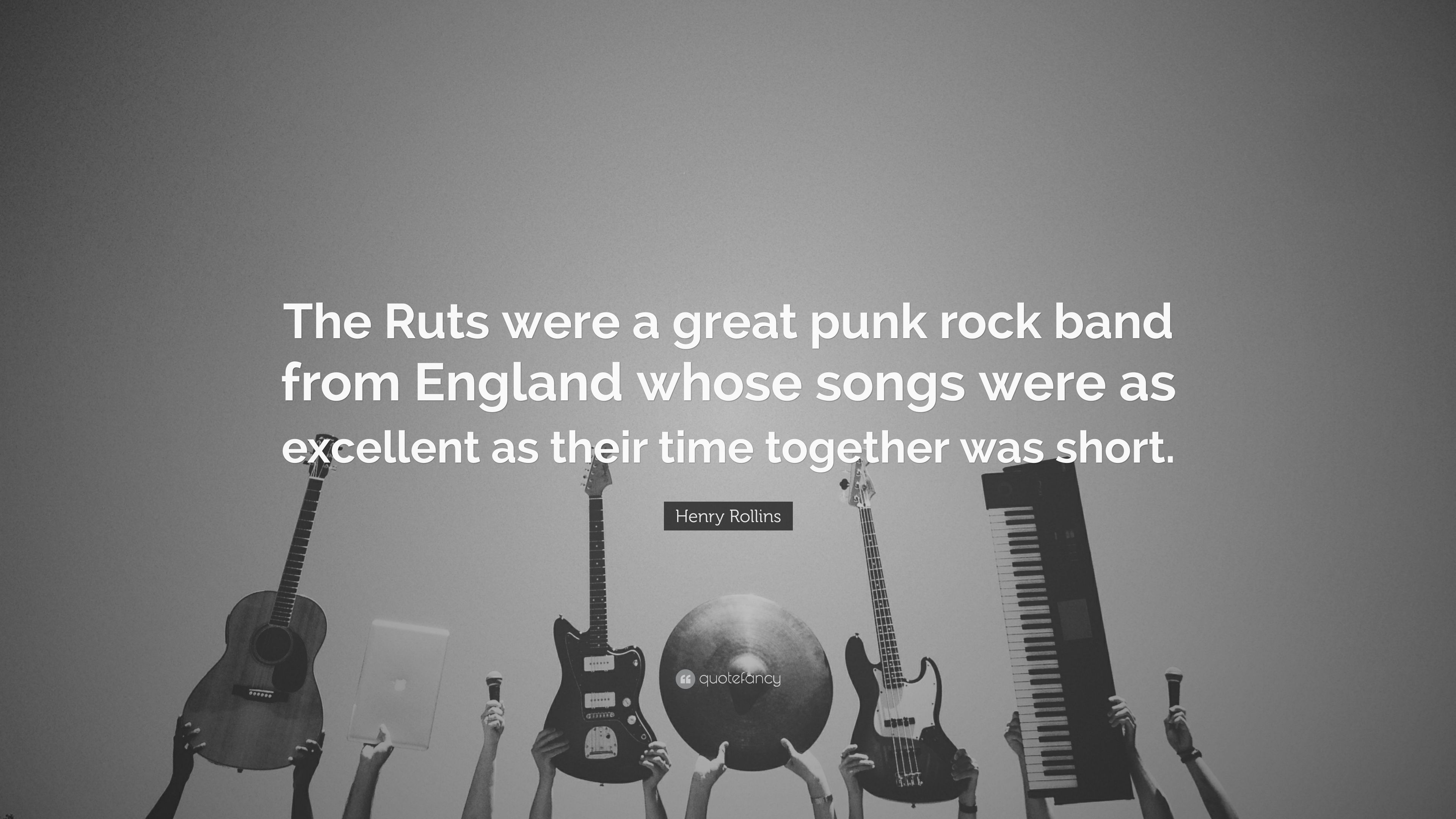 "Henry Rollins Quote: ""The Ruts were a great punk rock band ..."