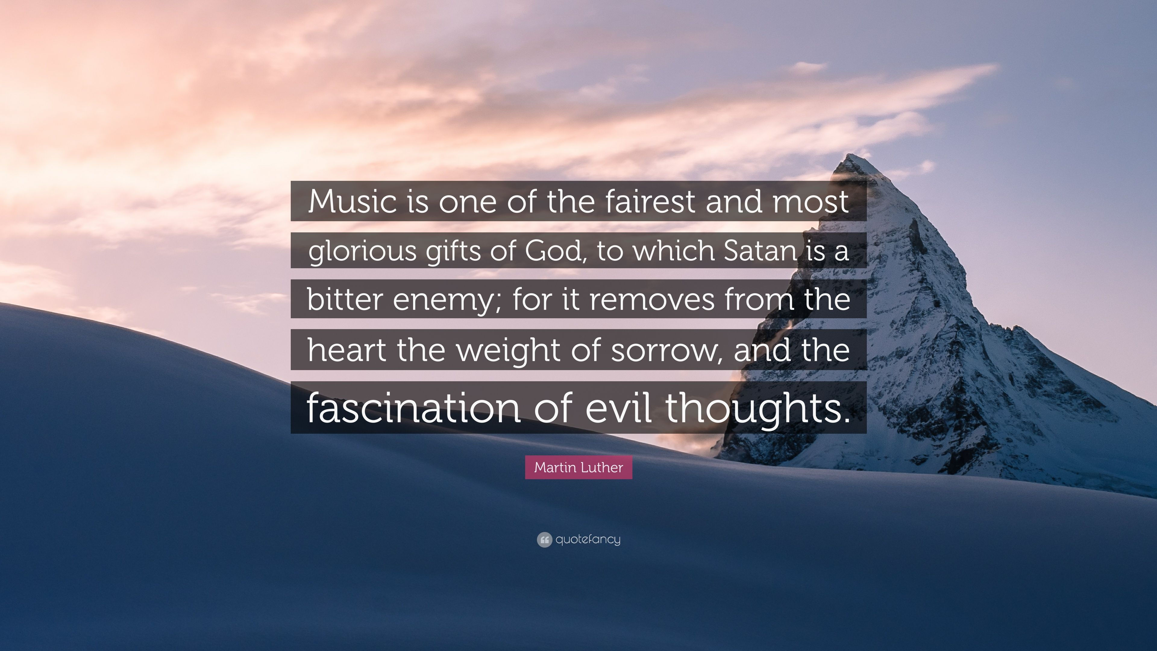 Martin Luther Quote Music Is One Of The Fairest And Most Glorious