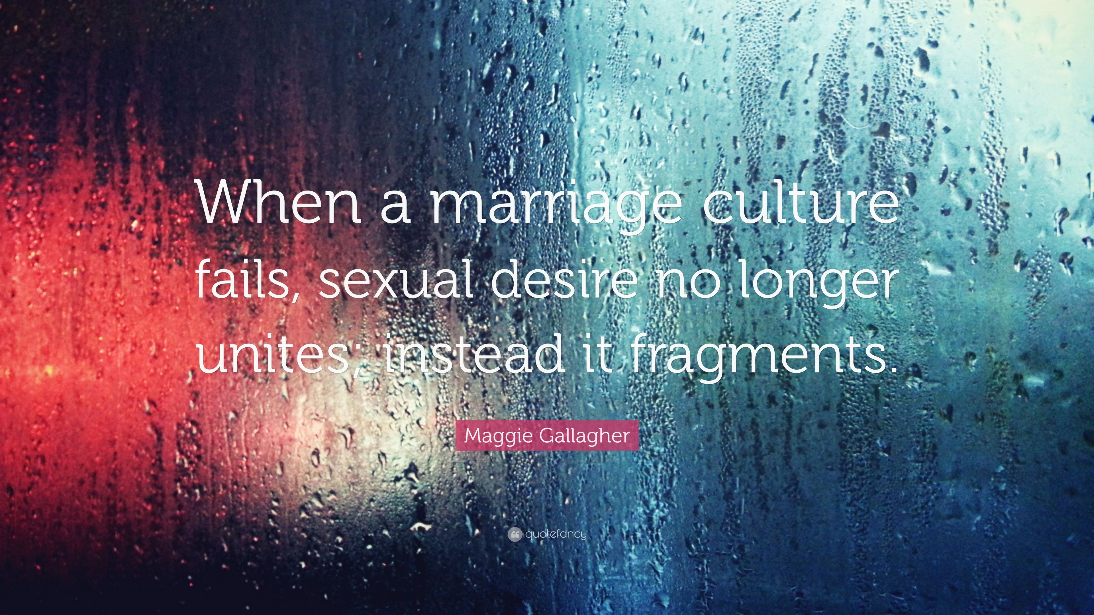 Maggie Gallagher Quote: When a marriage culture fails