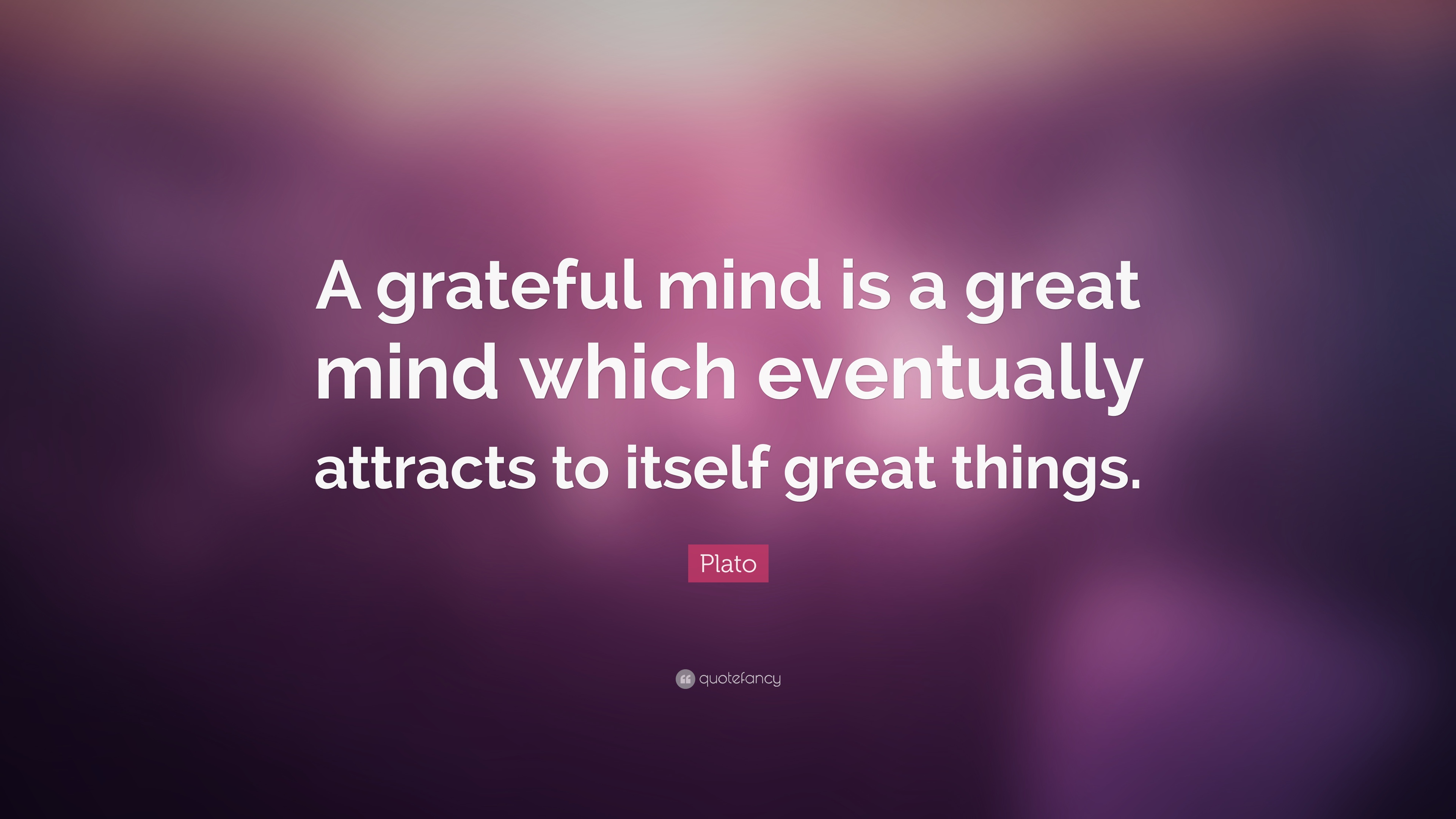 Gratitude Quotes: U201cA Grateful Mind Is A Great Mind Which Eventually  Attracts To Itself