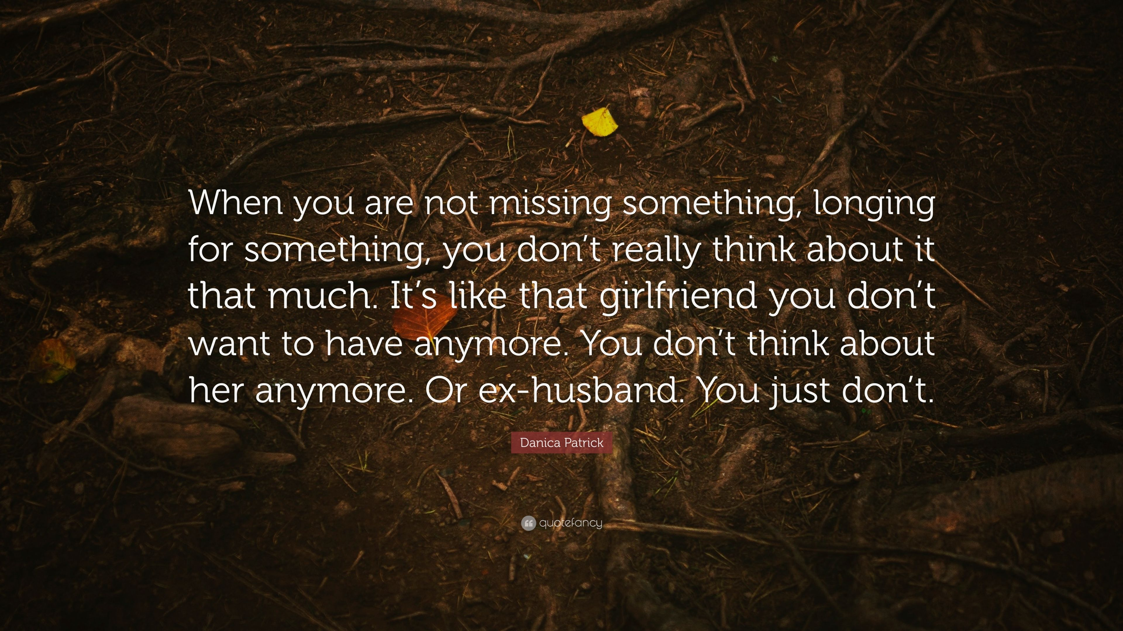 "Danica Patrick Quote: ""When you are not missing something ..."