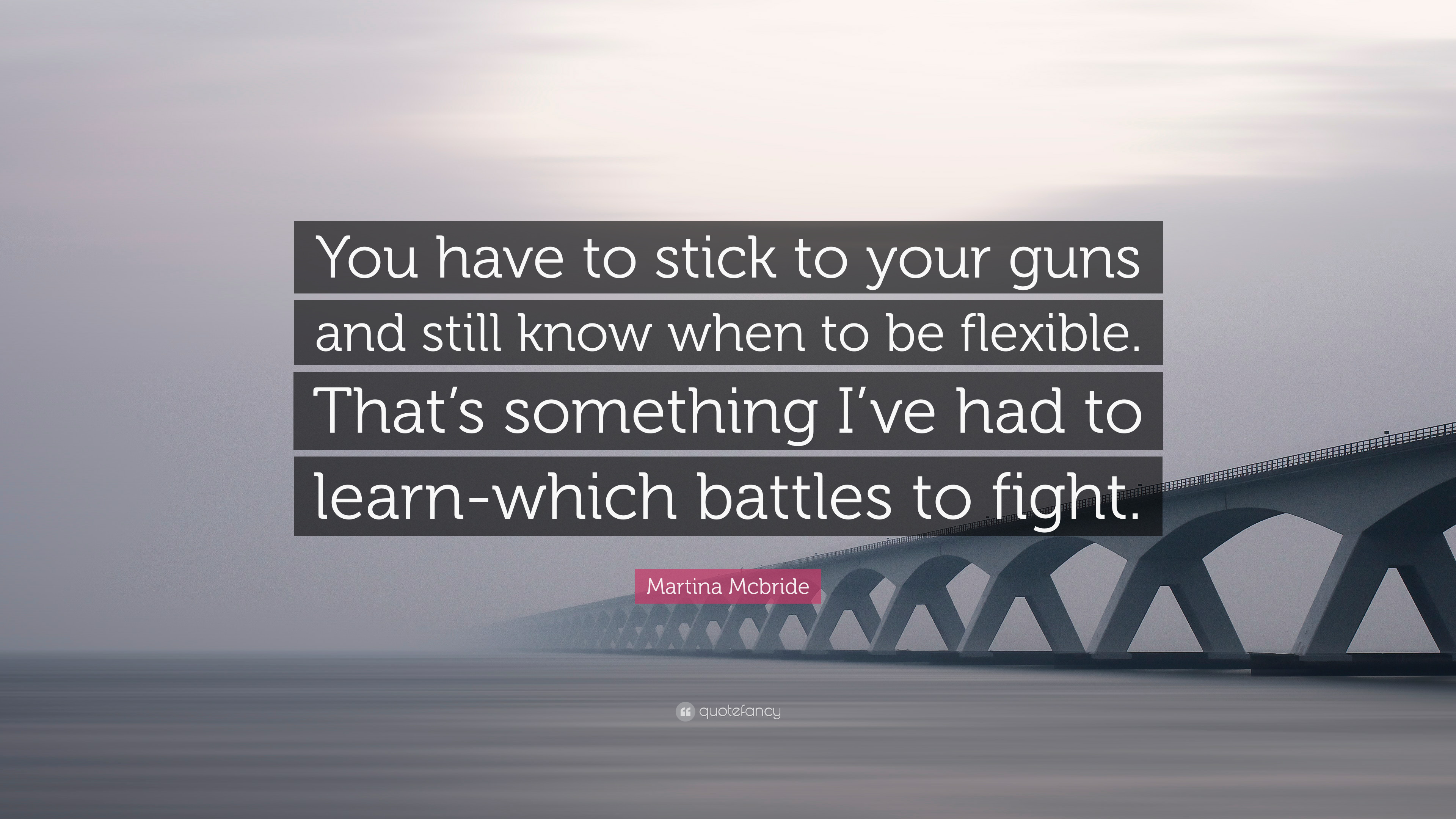 Martina Mcbride Quote You Have To Stick To Your Guns And Still