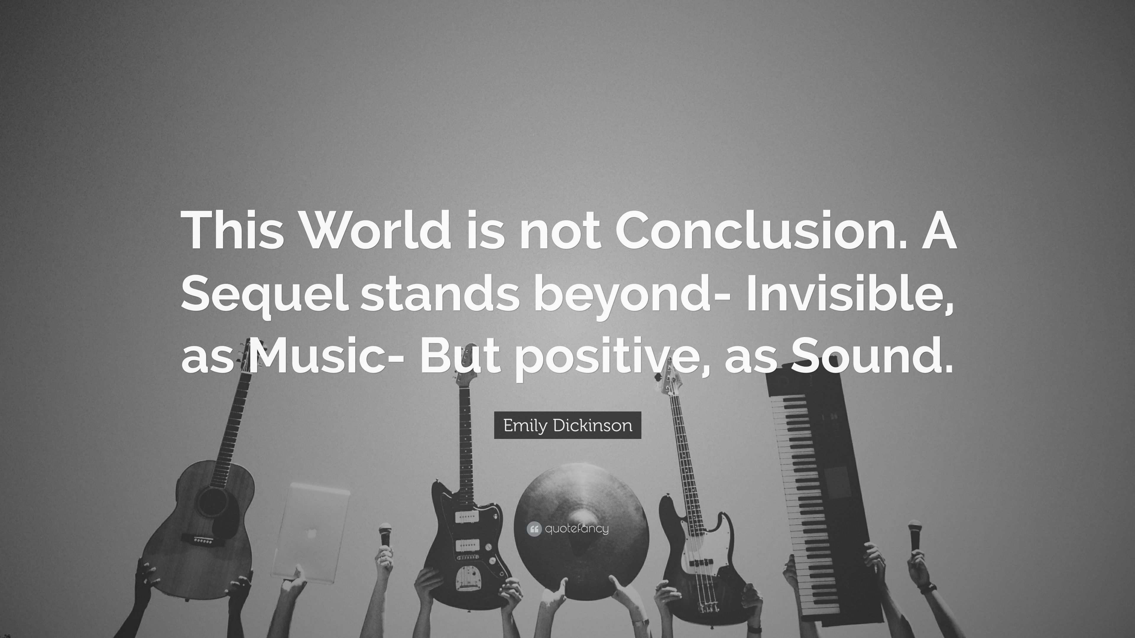 this world is not conclusion a sequel stands beyond