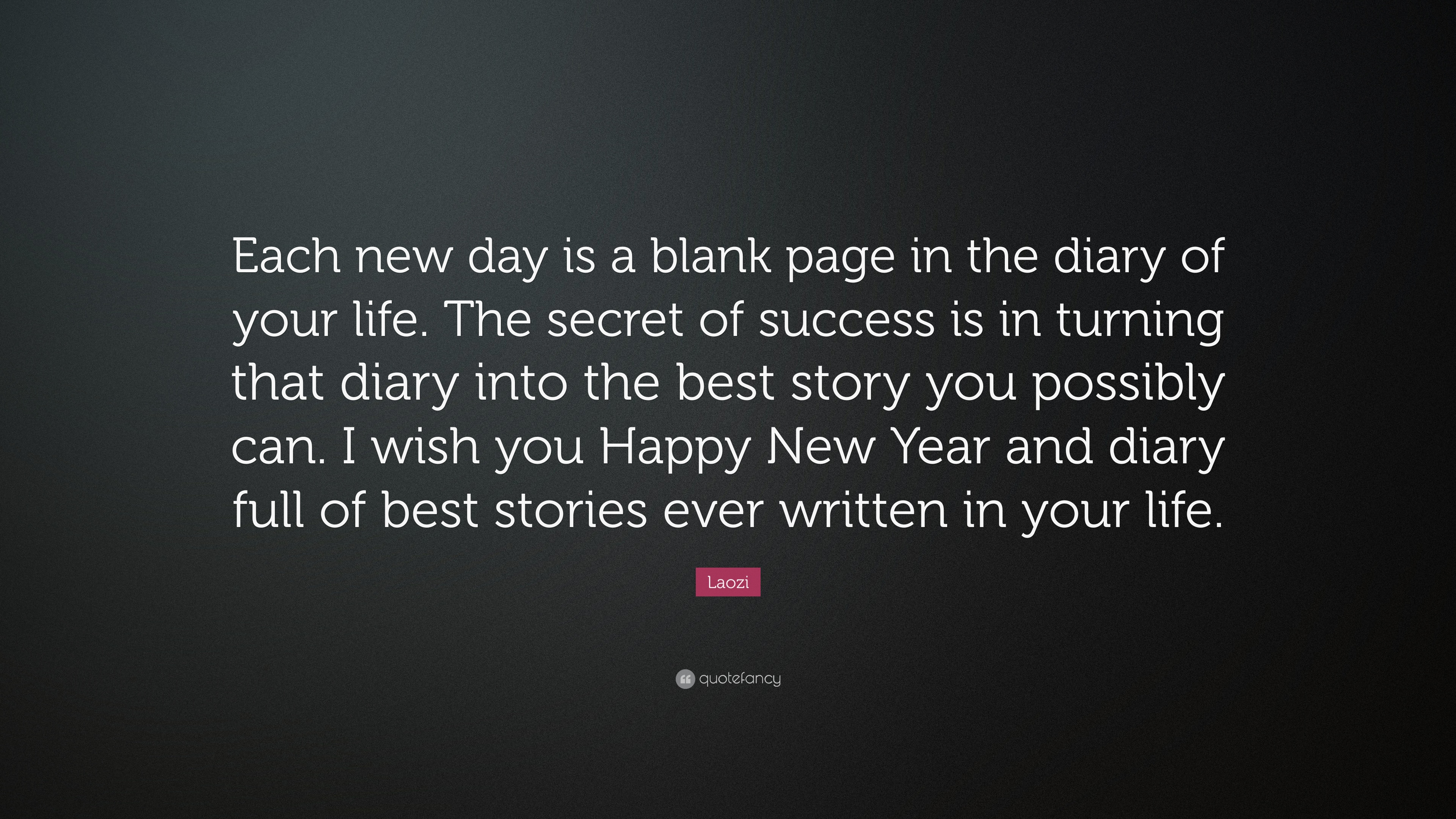new year quotes each new day is a blank page in the diary of