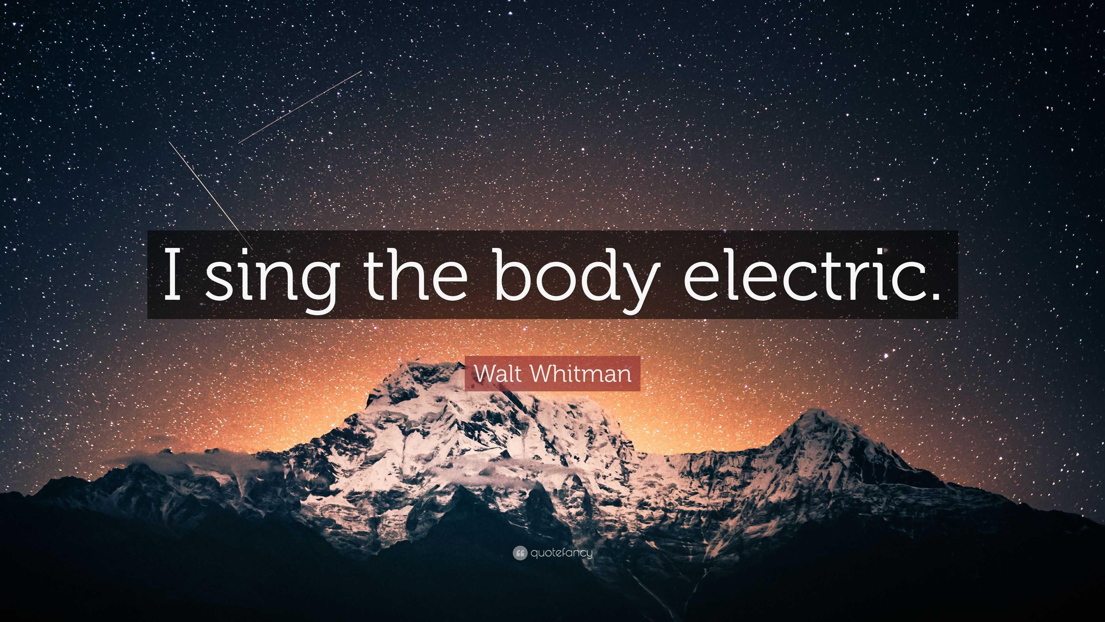 body electric whitman