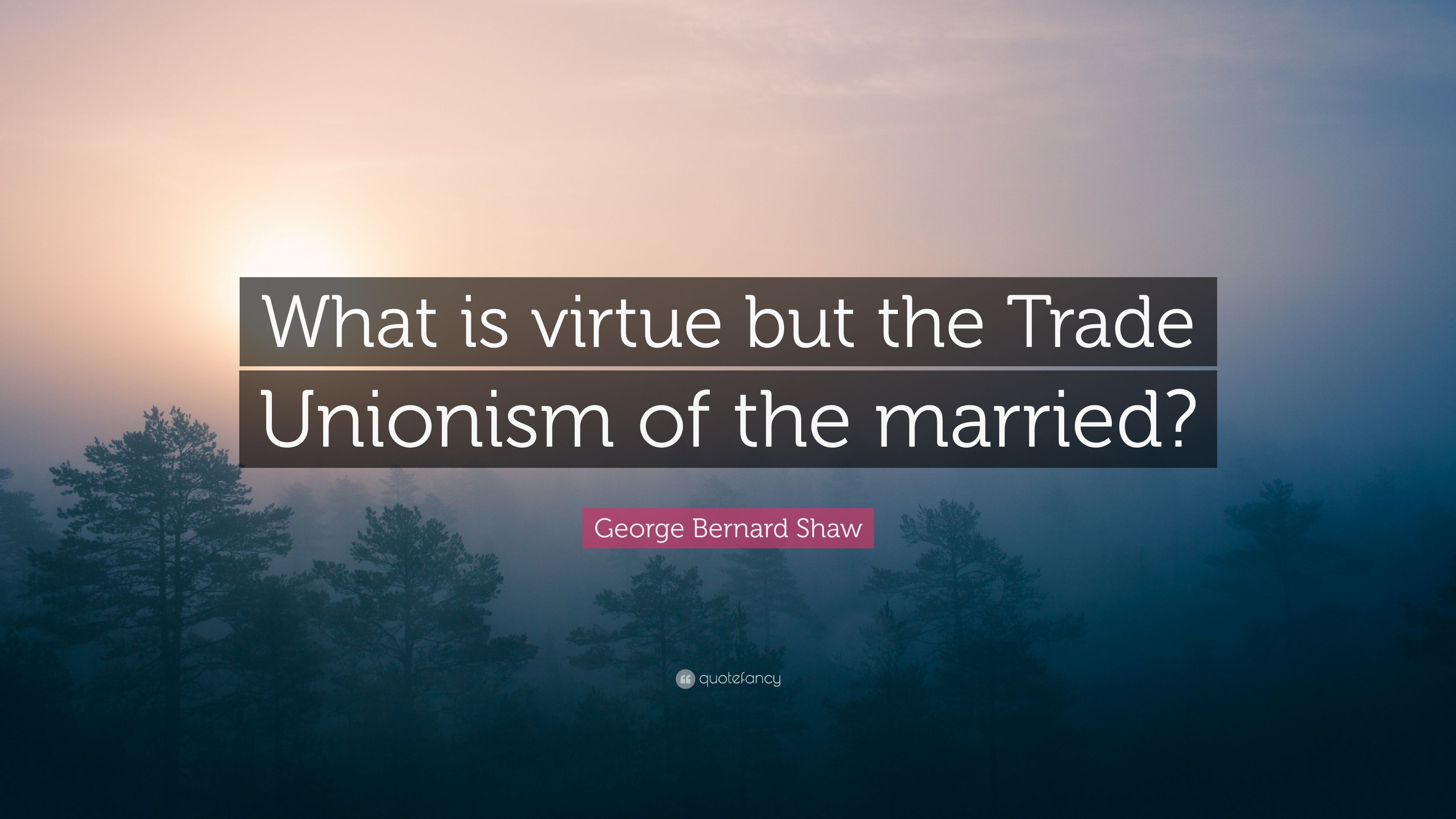 george bernard shaw quote what is virtue but the trade unionism of