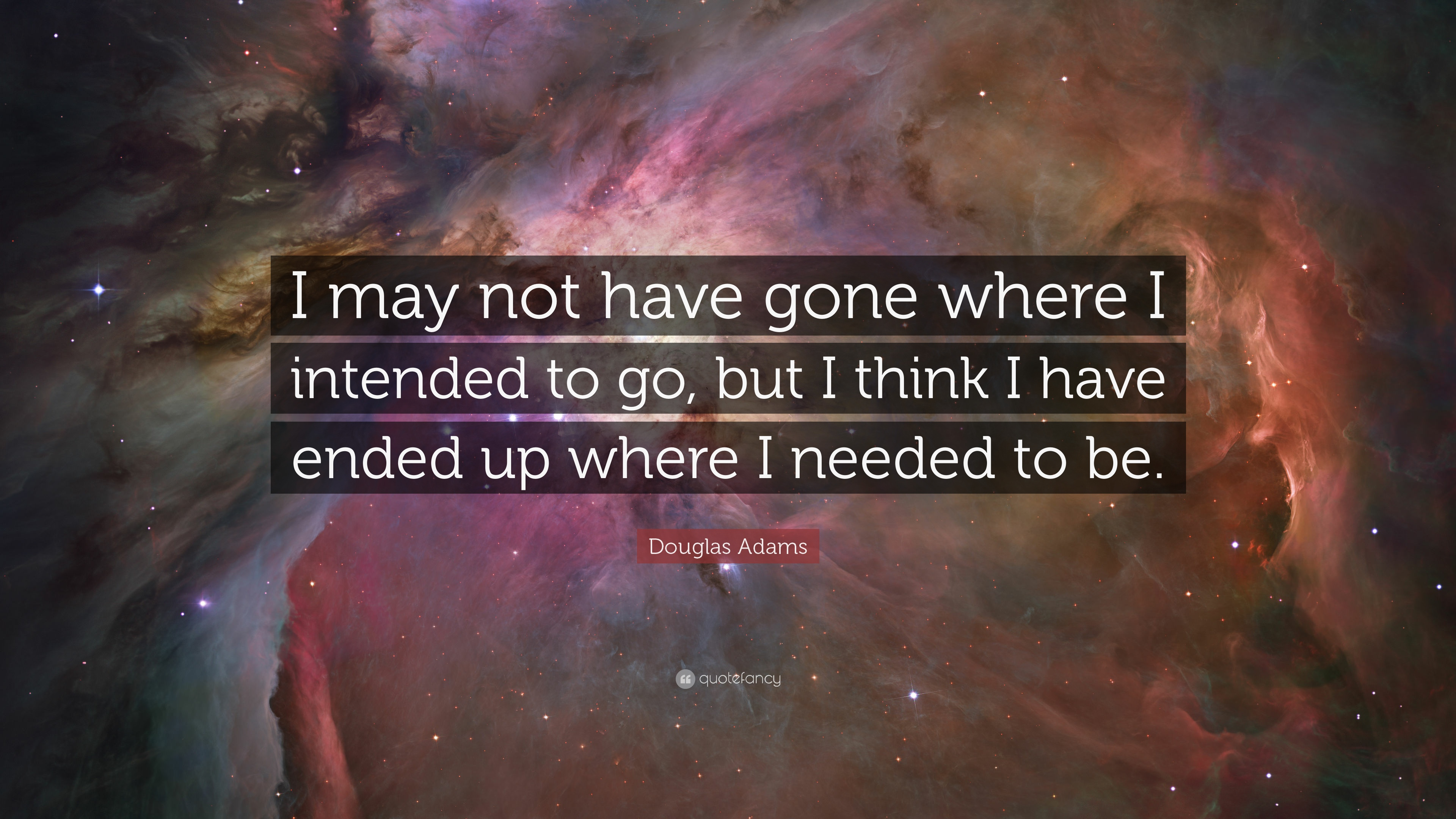 I May Not Have Gone Douglas Adams Quote