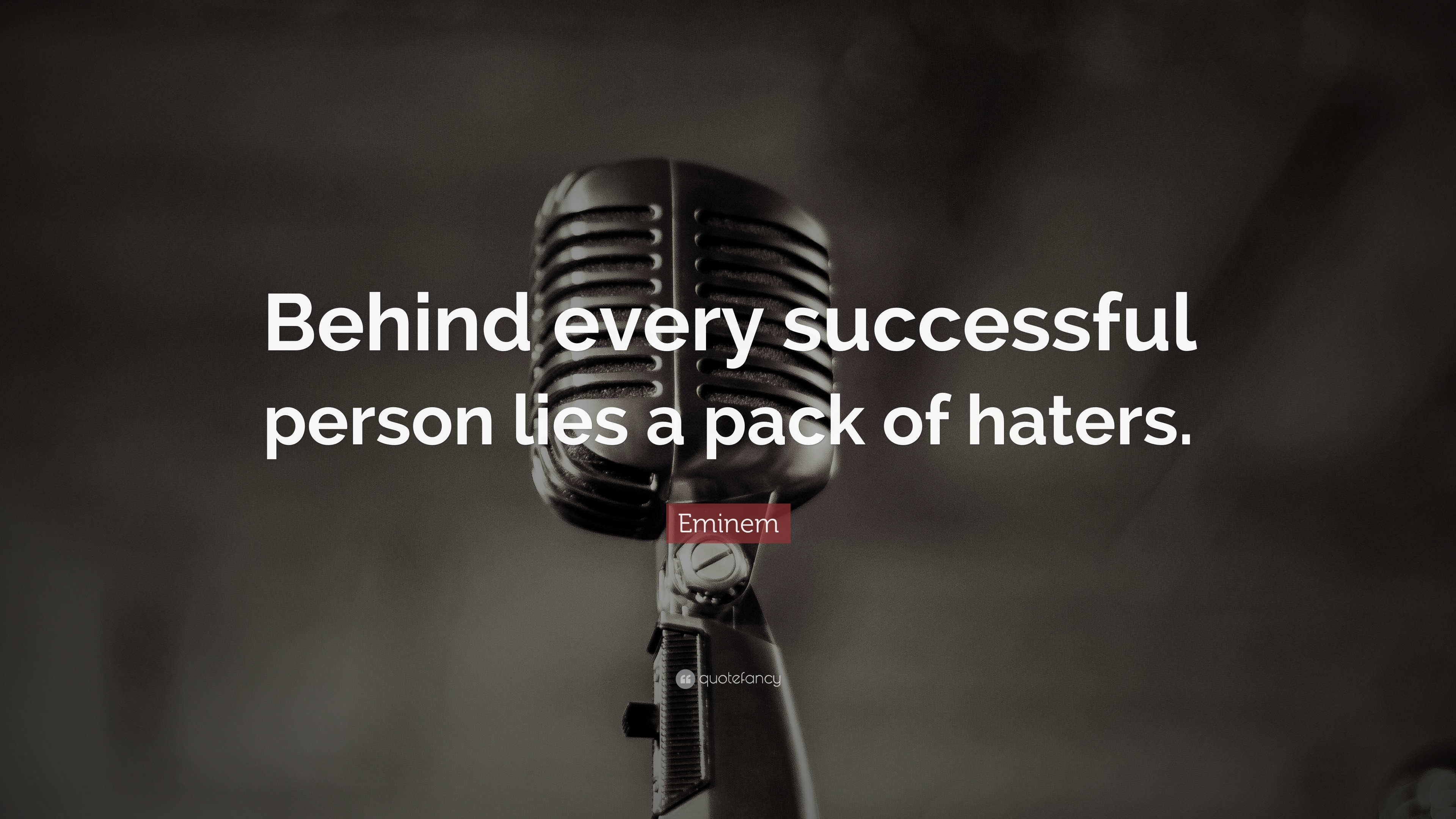 Image result for behind every successful person lies a pack of haters