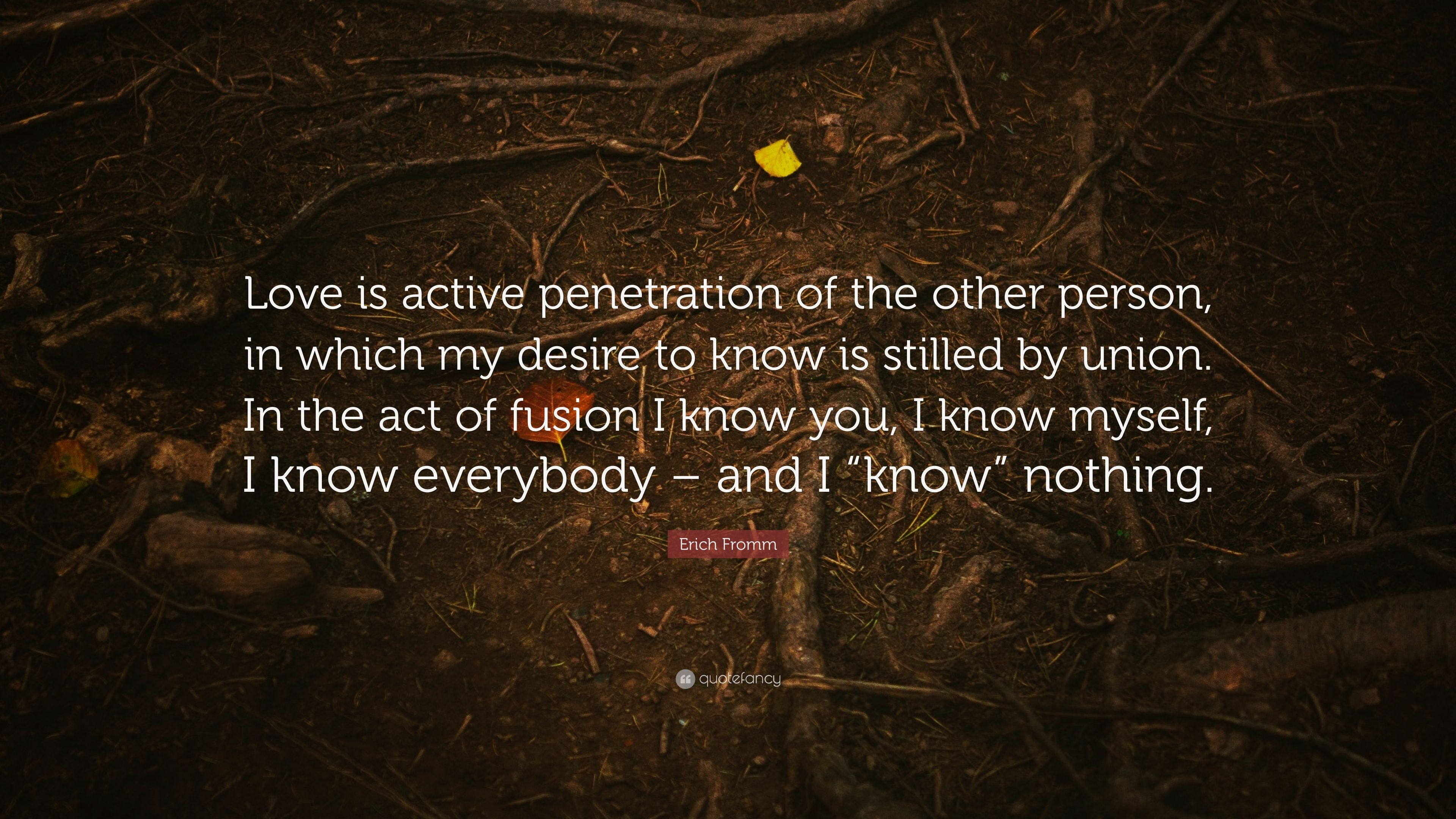 Desire for penetration