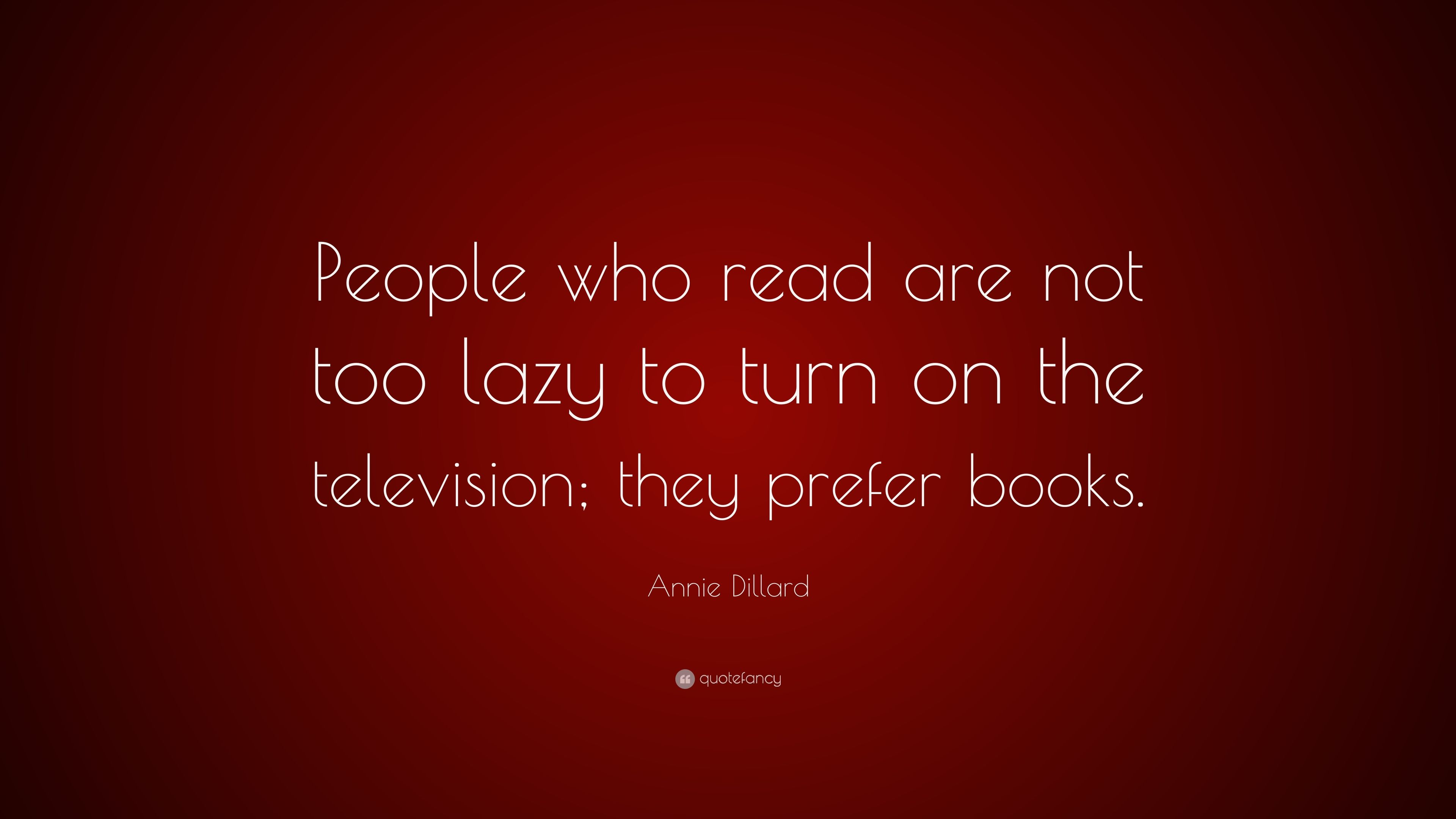 Do not be lazy - read