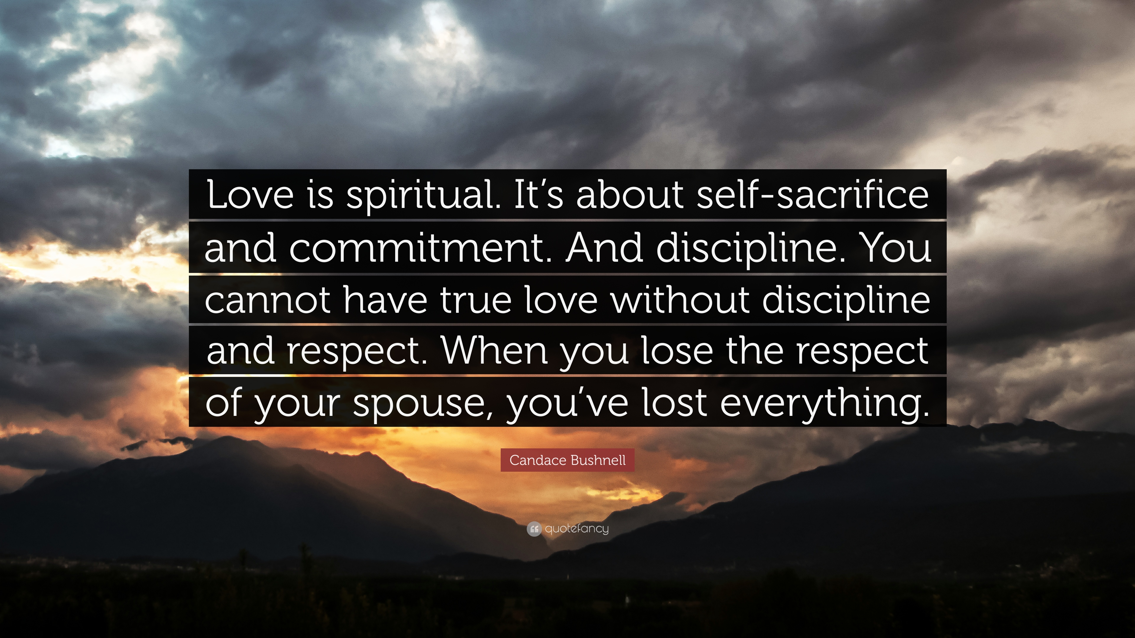 "Spiritual Quotes About Love Candace Bushnell Quote ""Love Is Spiritualit's About Self"