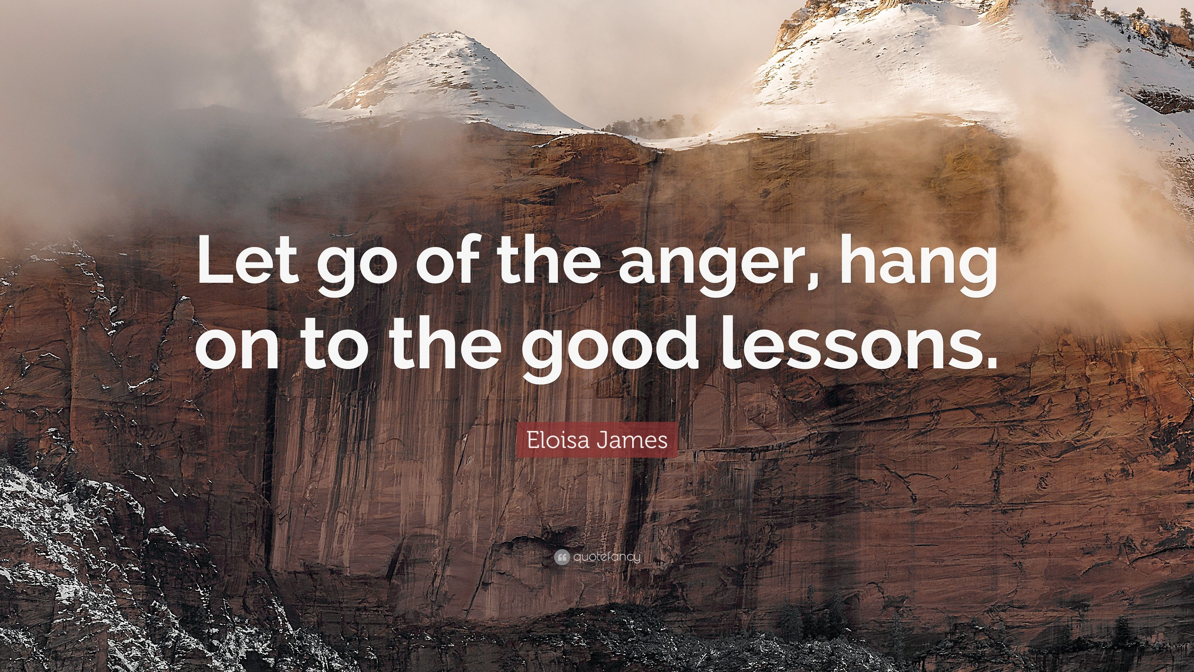 Eloisa James Quote Let Go Of The Anger Hang On To The Good