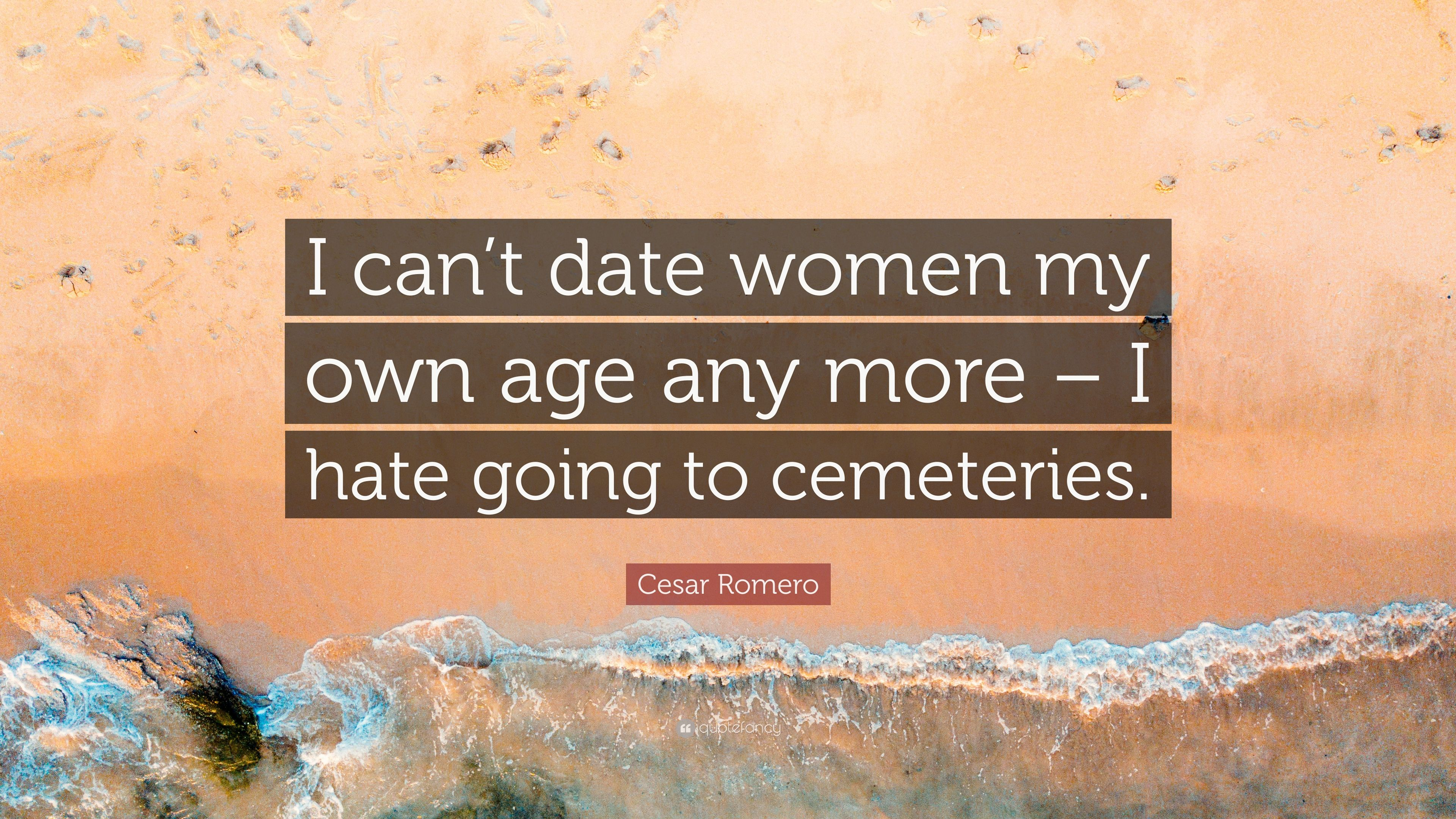 Dating a woman my own age