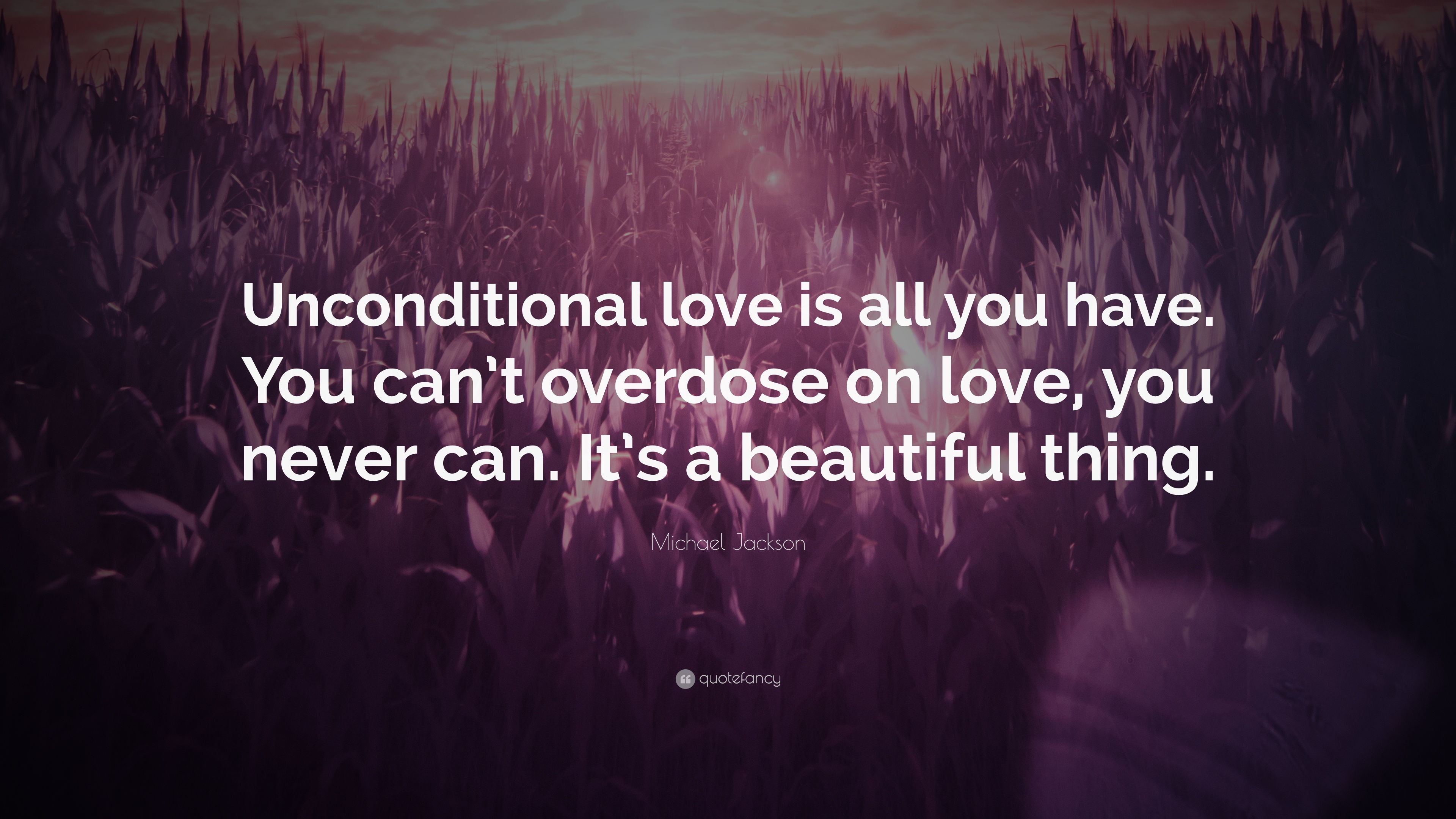 "Quotes Unconditional Love Michael Jackson Quote ""Unconditional Love Is All You Haveyou"
