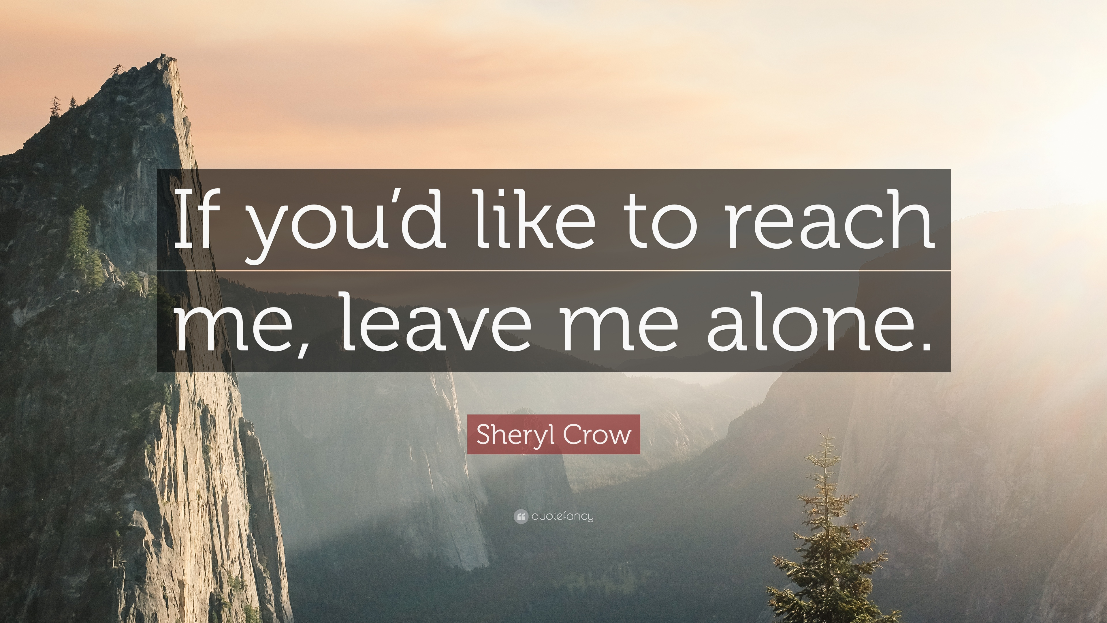 Sheryl Crow Quote If Youd Like To Reach Me Leave Me Alone 7