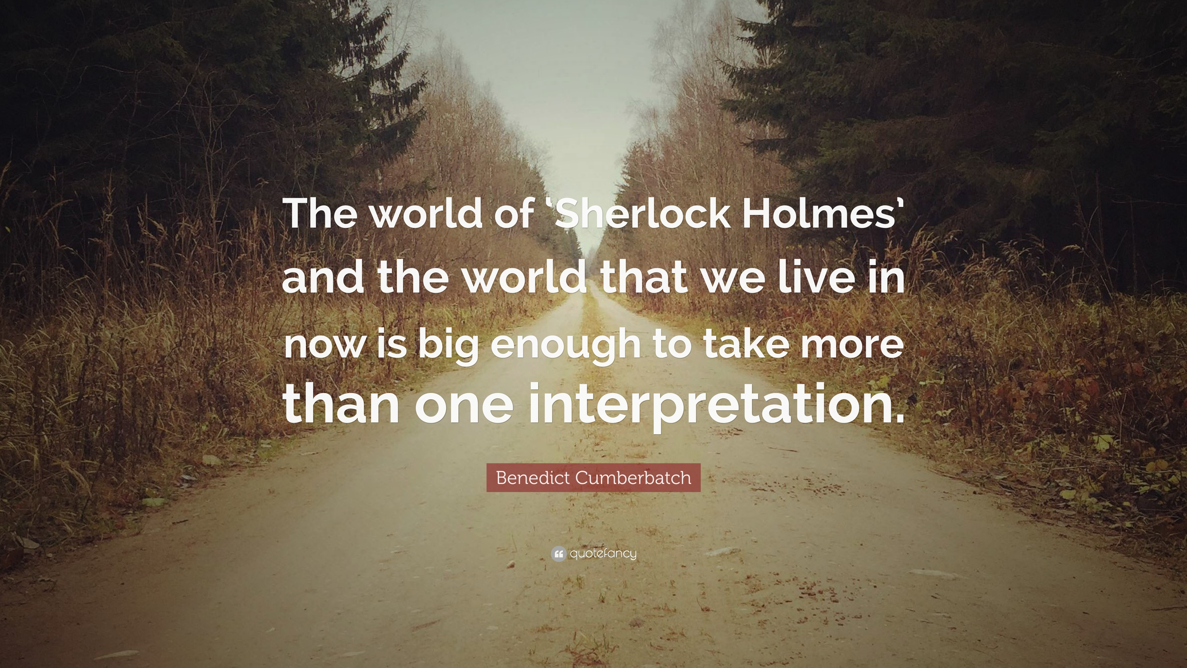 Benedict Cumberbatch Quote The World Of Sherlock Holmes