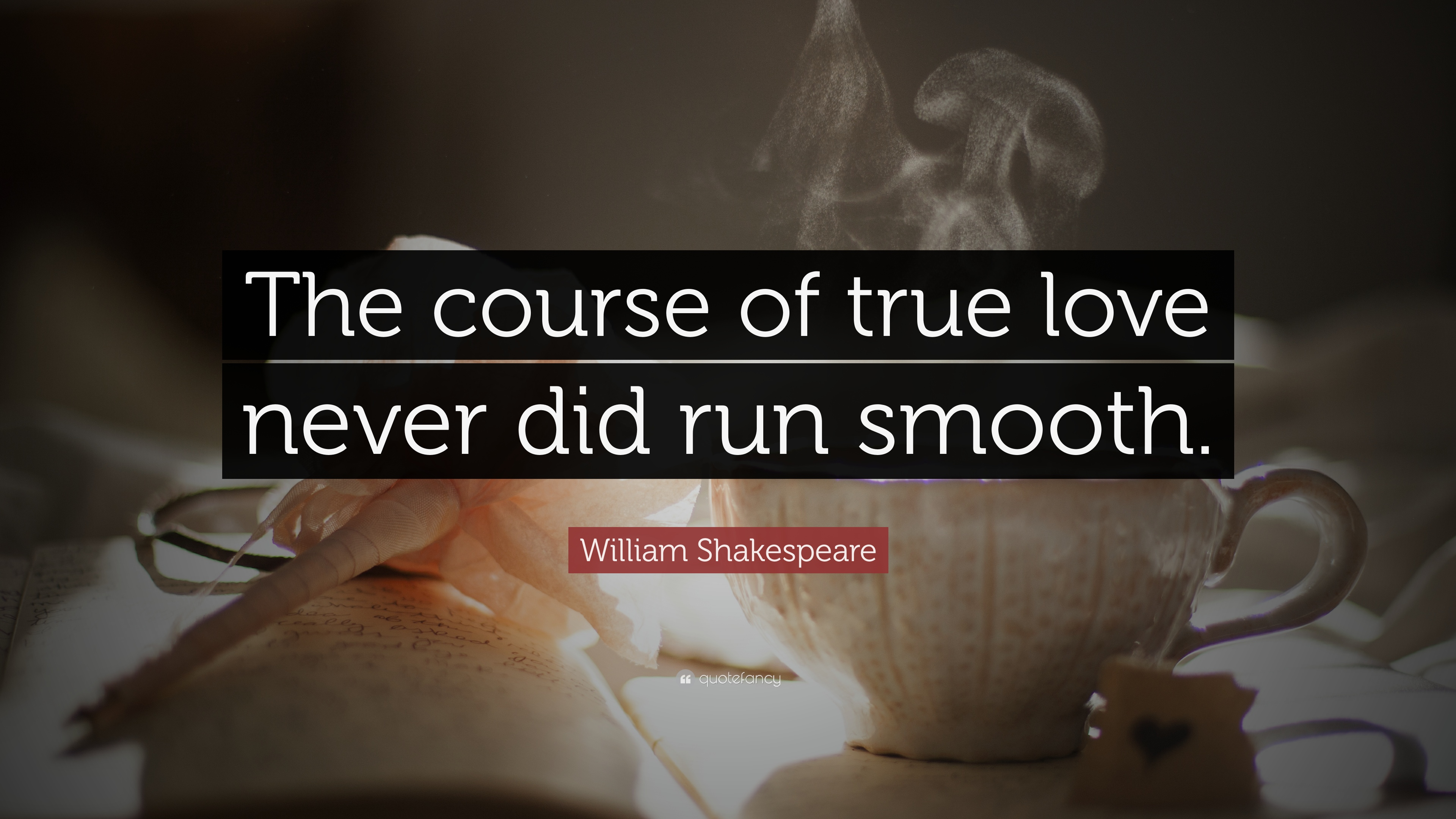 The course of true love never did run smooth essay