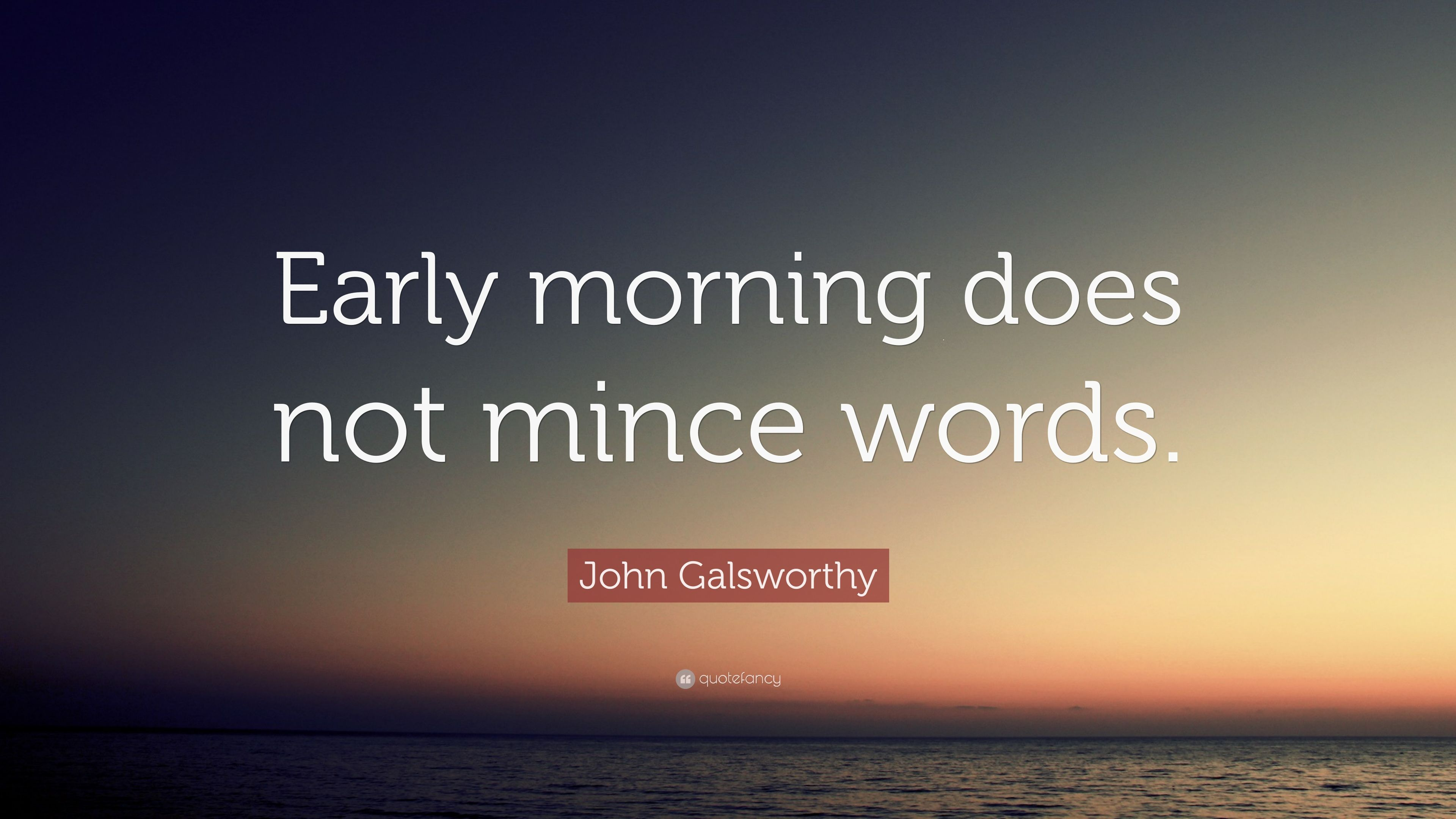 words to describe early morning
