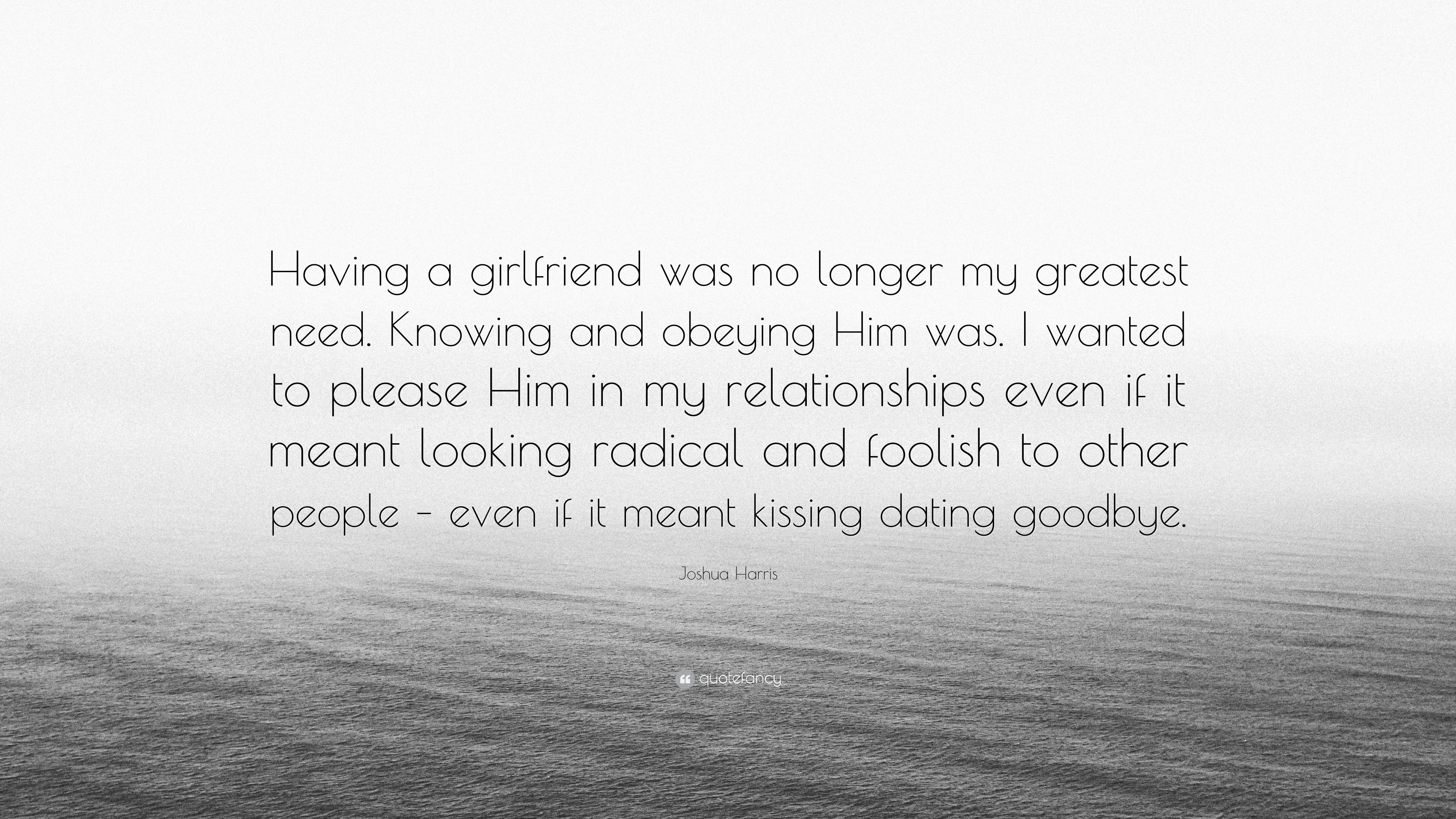 No longer interested in dating him