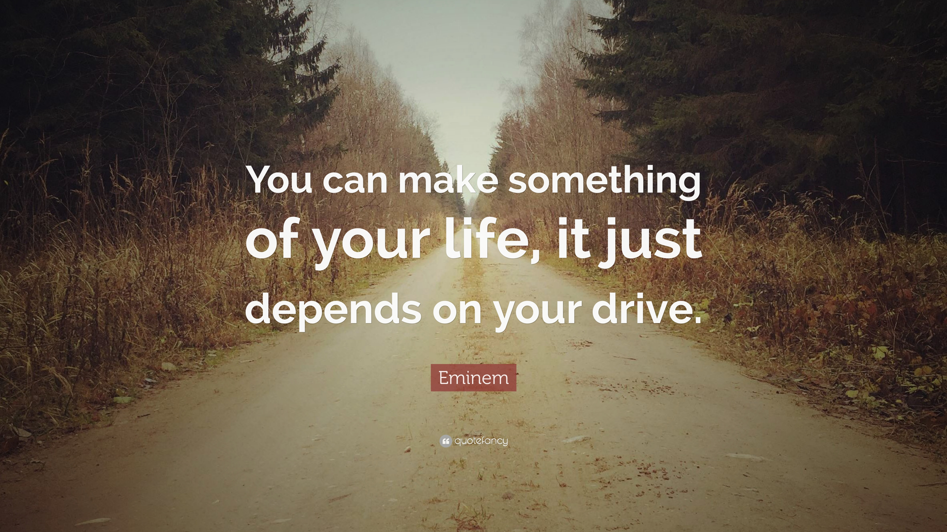 Eminem Quote You Can Make Something Of Your Life It Just Depends