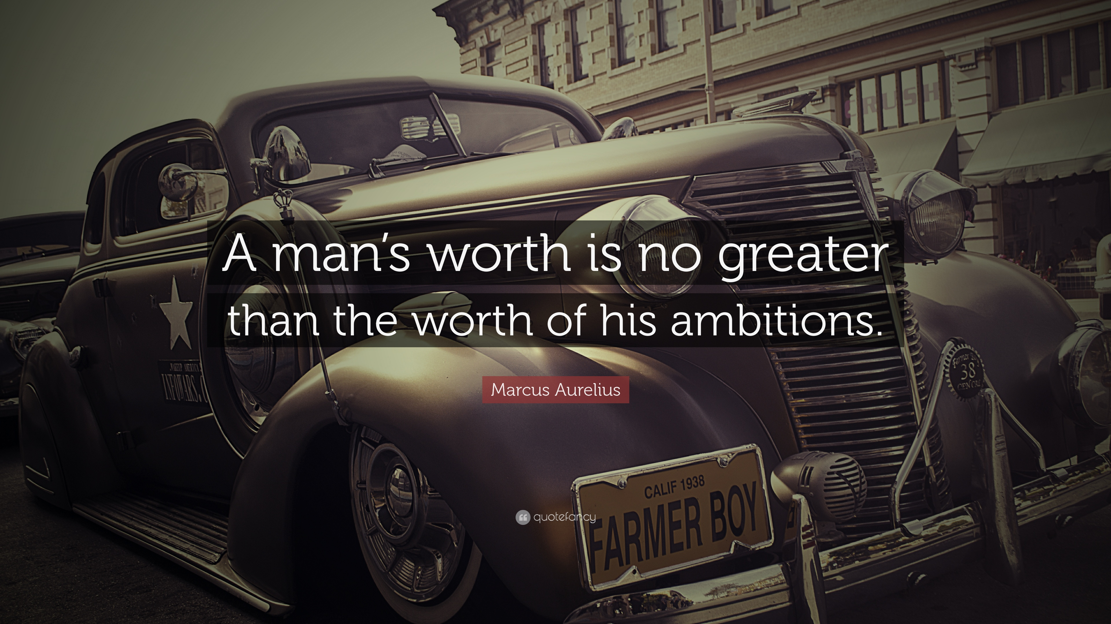 "Marcus Aurelius Quote: ""A Man's Worth Is No Greater Than"