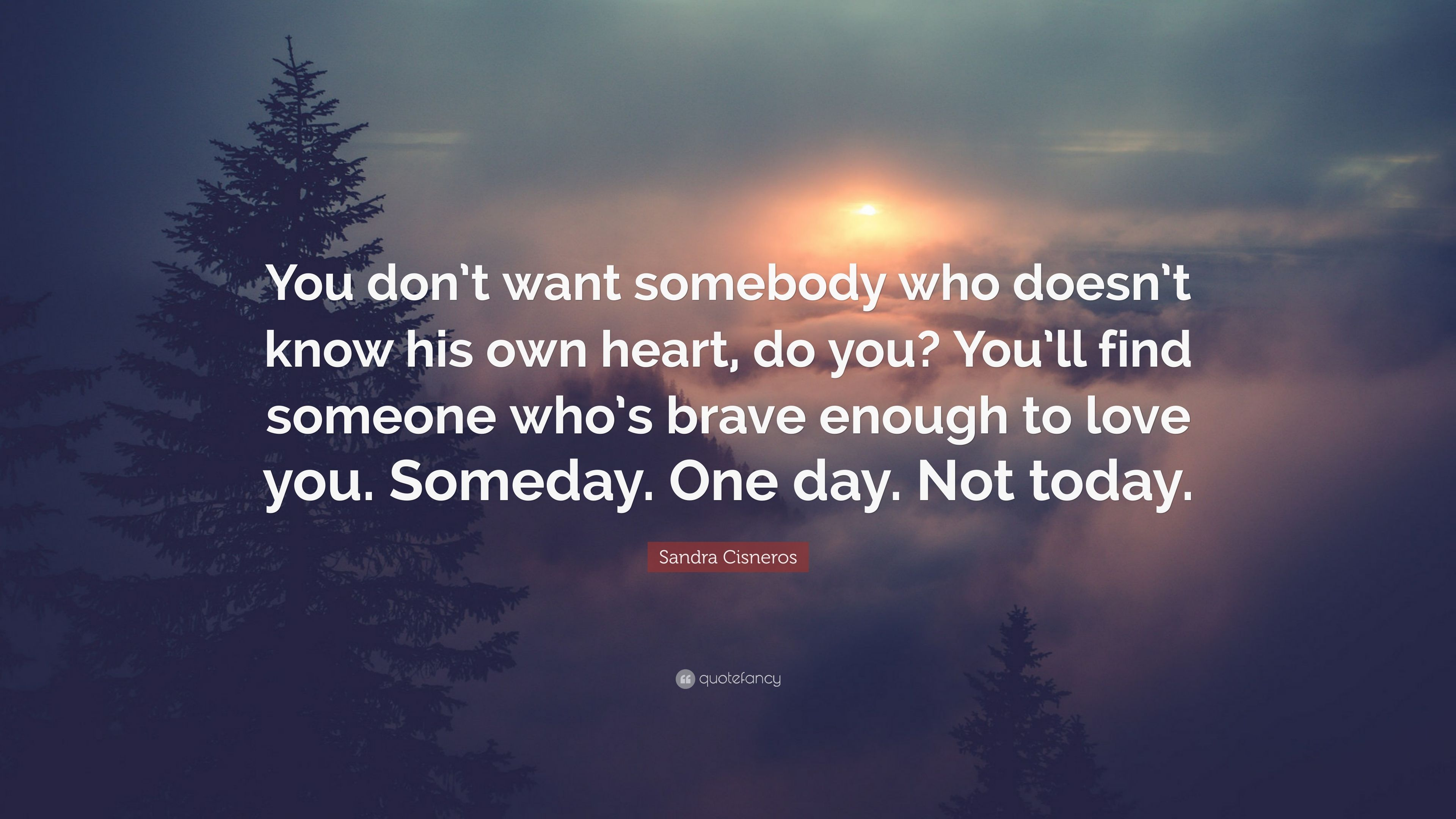 Exceptional Sandra Cisneros Quote: U201cYou Donu0027t Want Somebody Who Doesnu0027t Know