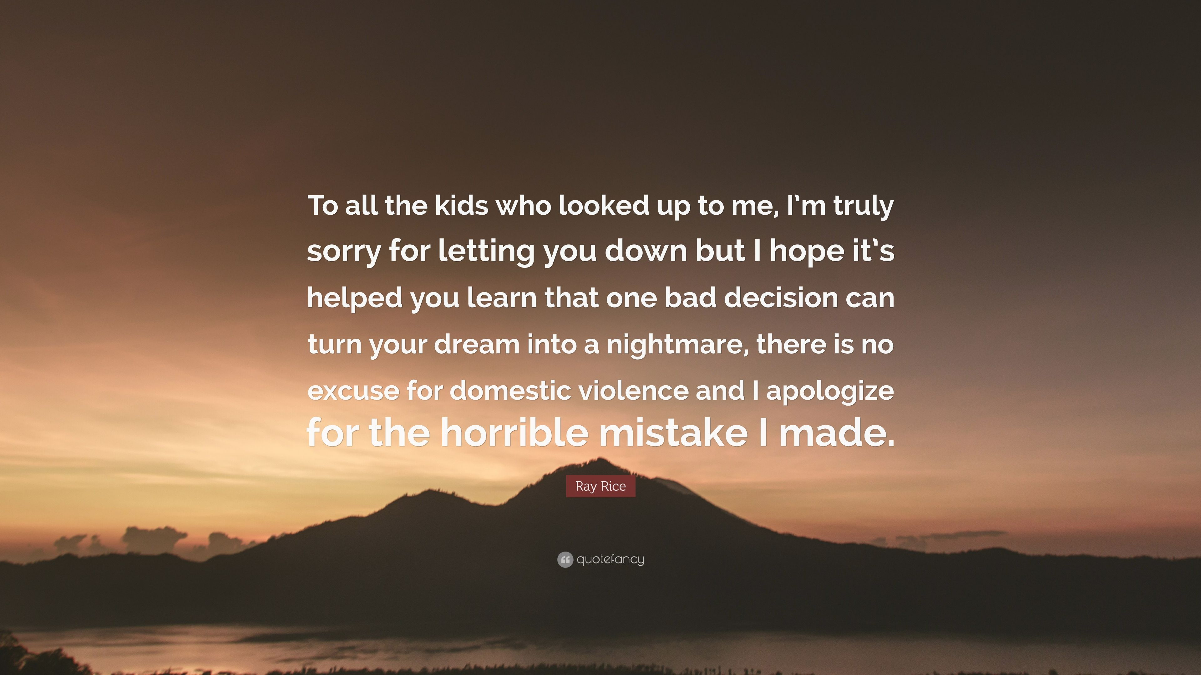 im sorry for letting you down quotes