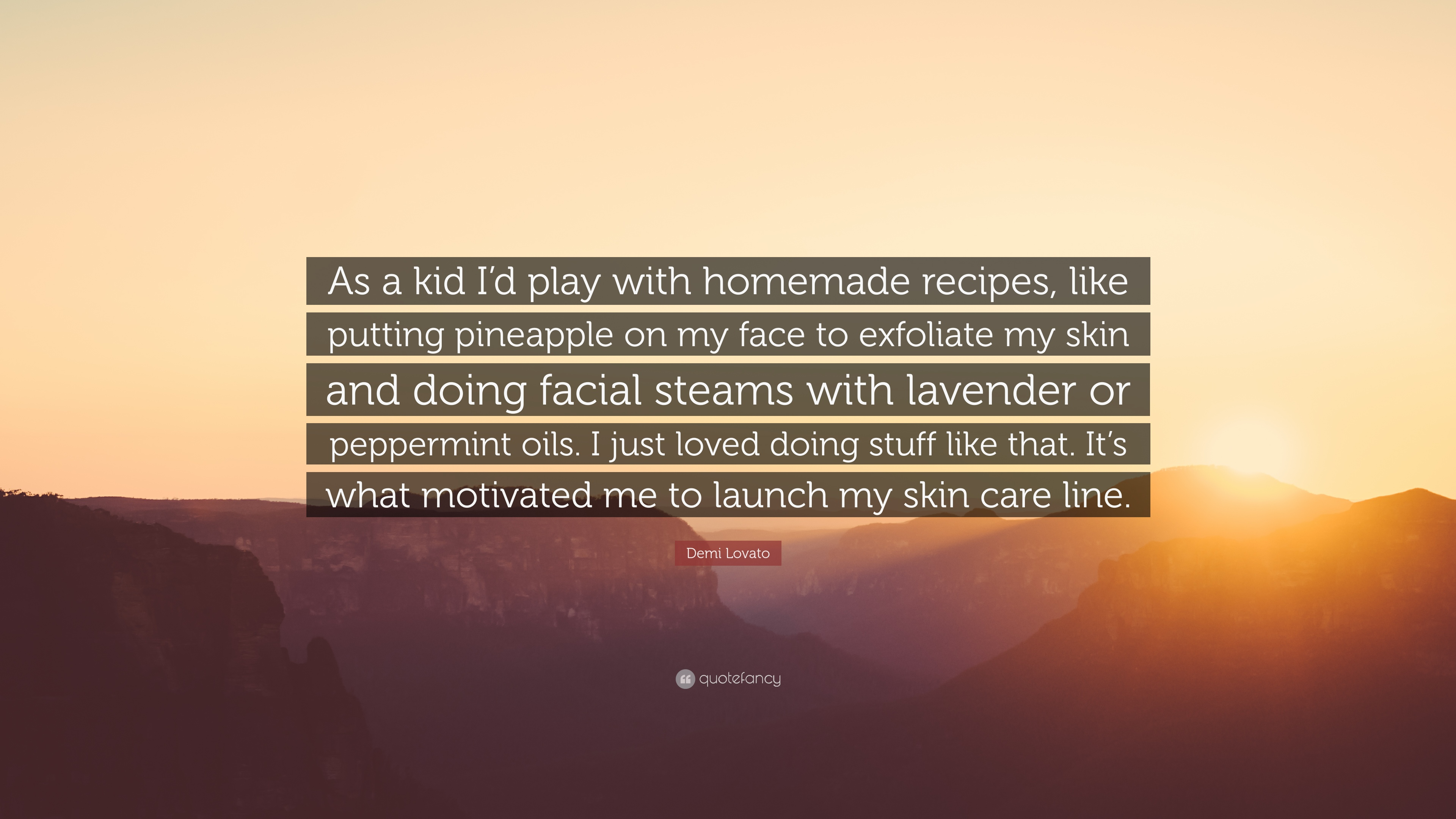 Demi Lovato Quote: €�as A Kid I'd Play With Homemade Recipes,