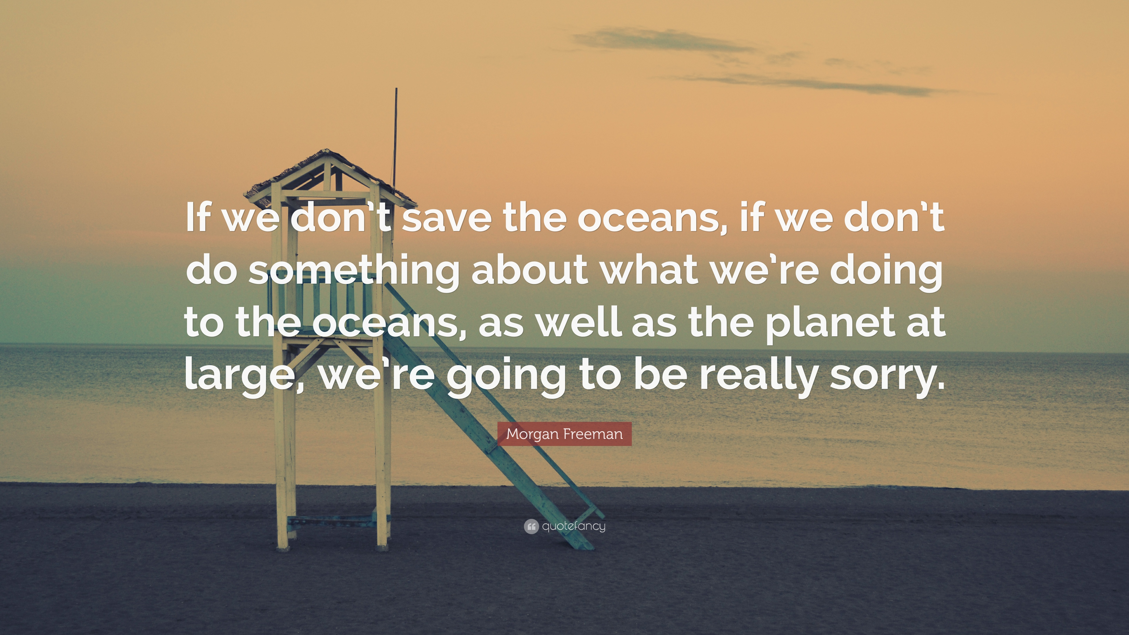 """Morgan Freeman Quote: """"If we don't save the oceans, if we don't do  something about what we're doing to the oceans, as well as the planet at  lar..."""""""