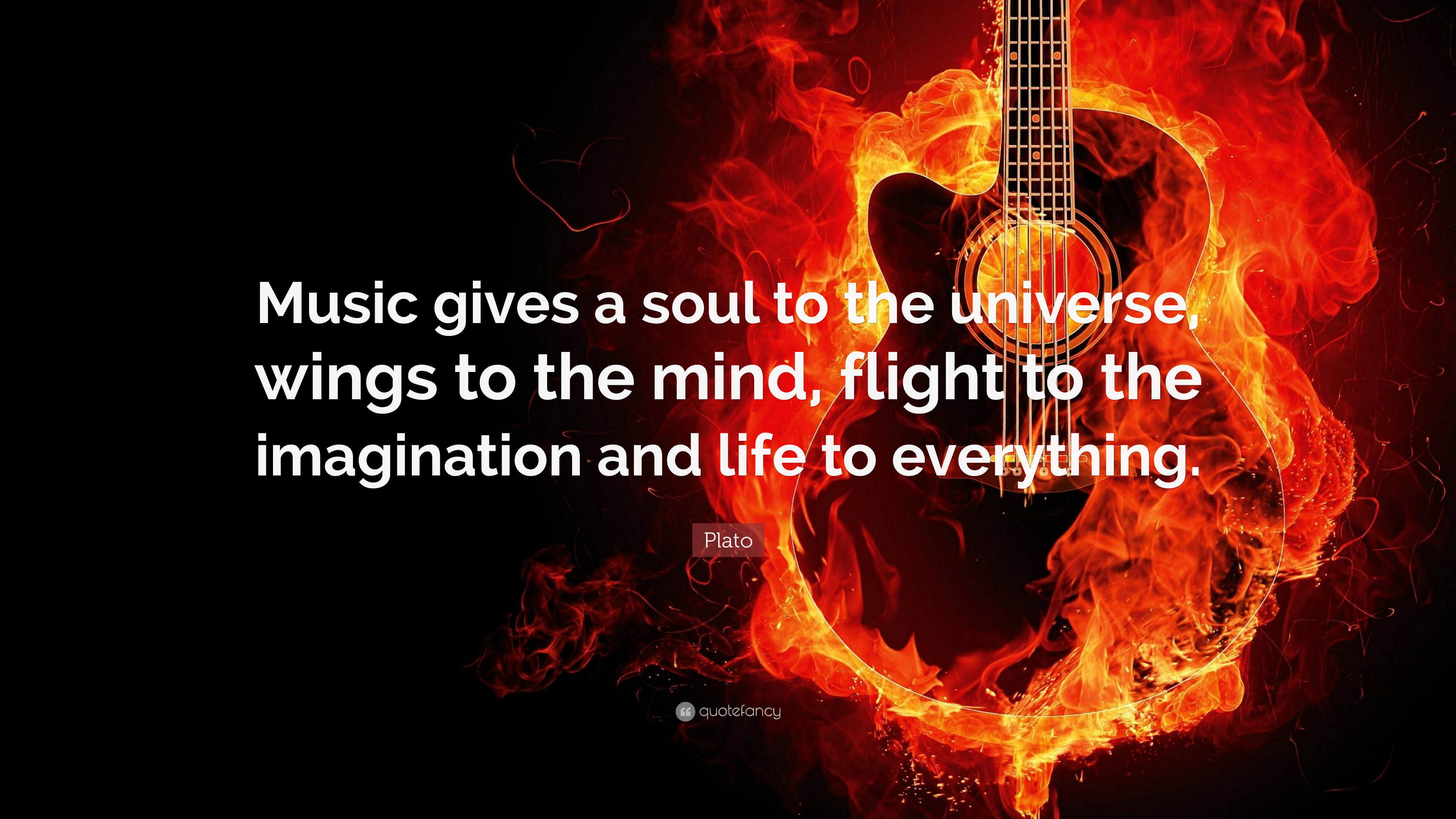 "Plato Quote: ""Music Gives A Soul To The Universe, Wings To"