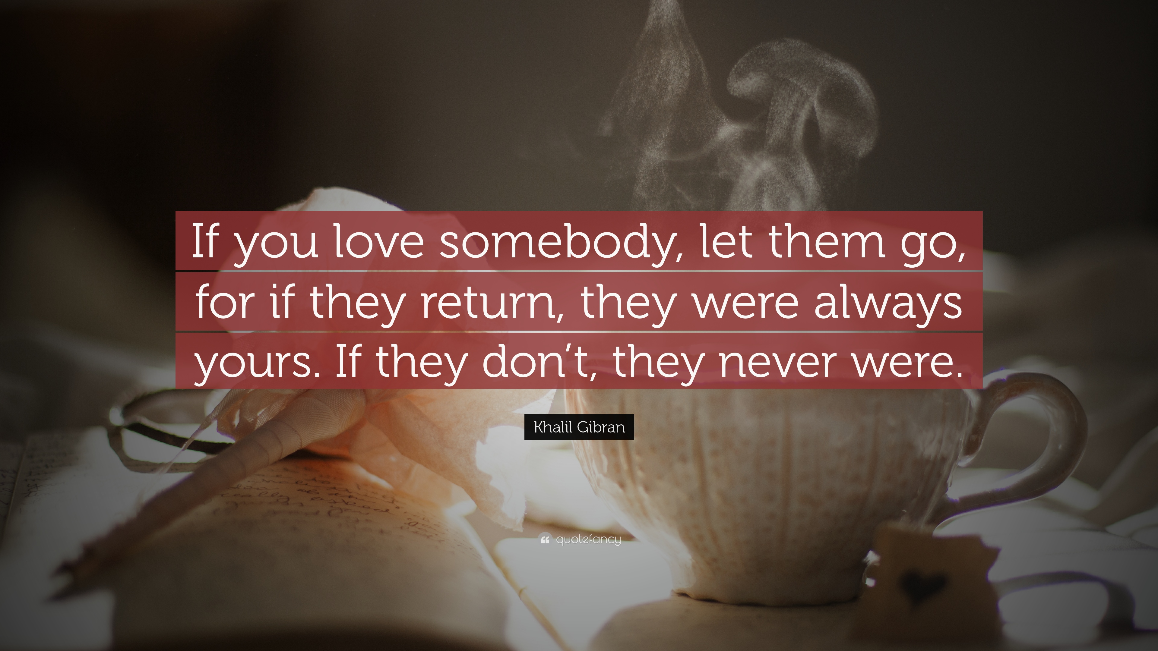 you love someone let them go